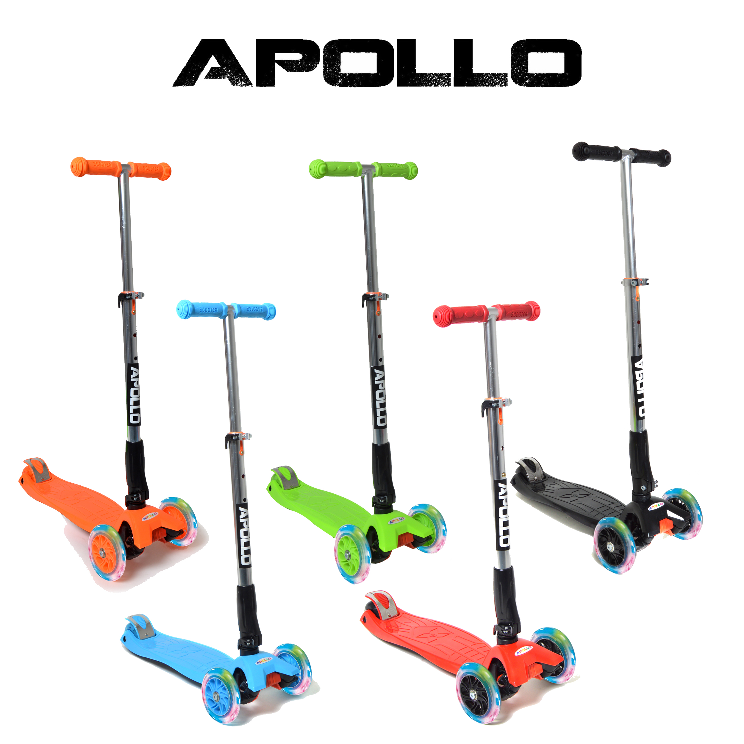 apollo kids go led fun scooter tretroller f r kinder ab. Black Bedroom Furniture Sets. Home Design Ideas