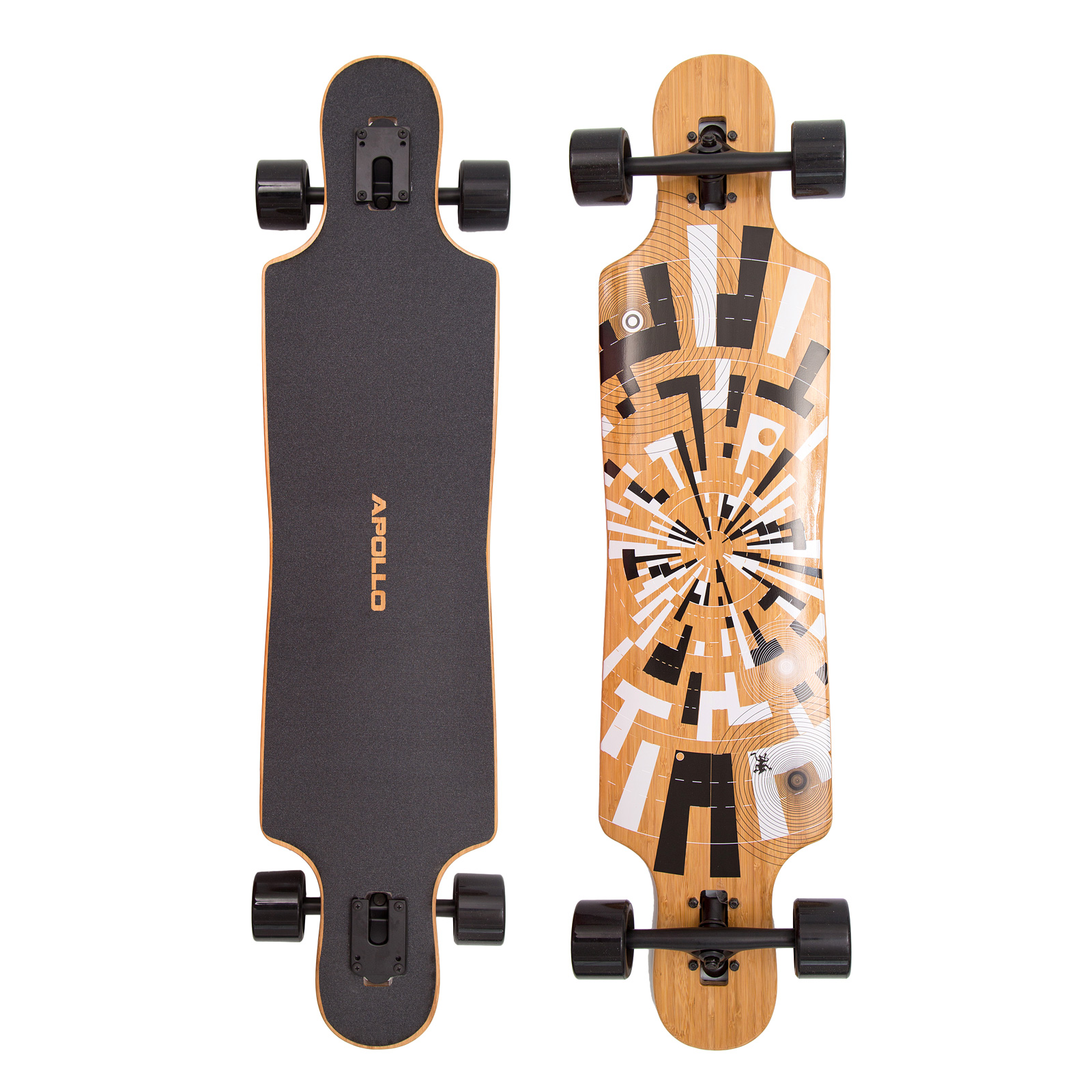apollo twin tip drop thru longboard soul bamboo flex 1 3. Black Bedroom Furniture Sets. Home Design Ideas