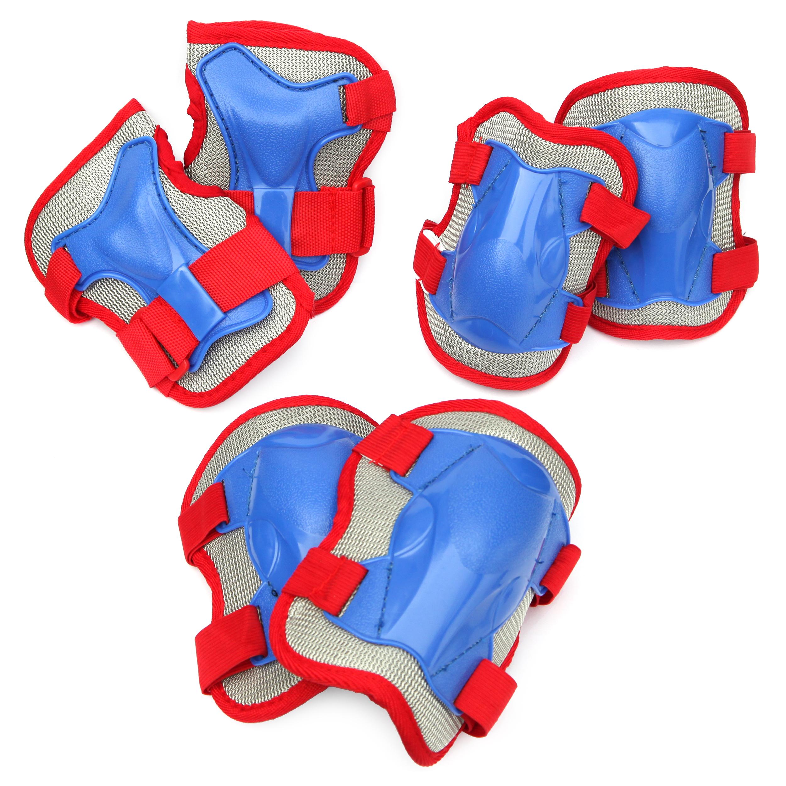 Apollo Knie- Ellenbogen und Handgelenkschoner Set Gr. M, Farbe: blau