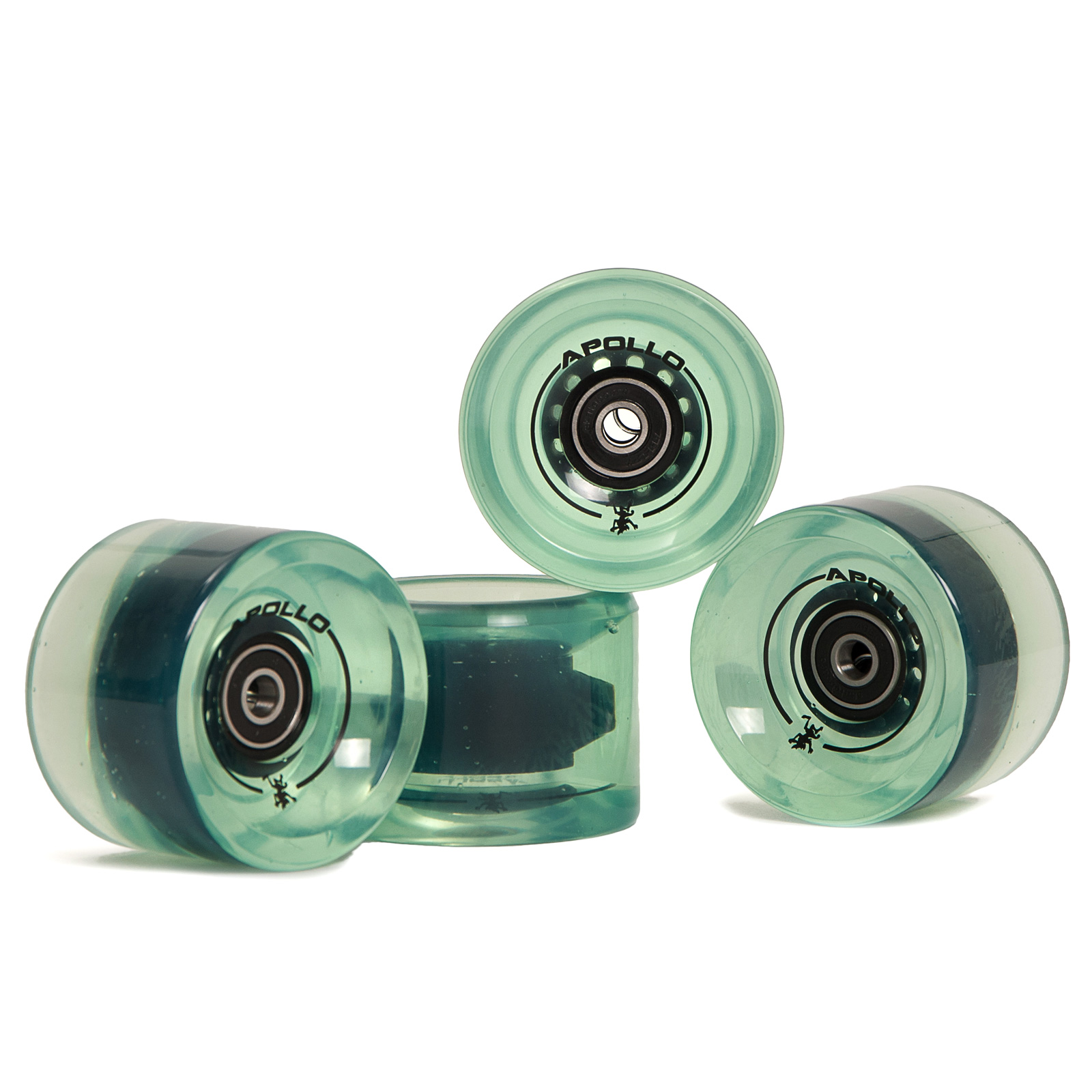 Apollo Longboard Rollen Wheel Set - Bottle Green / Flaschengrün
