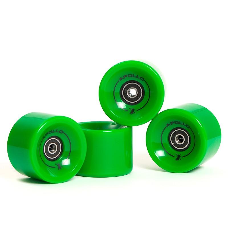 Apollo Longboard Rollen Wheel Set - Solid Green / grün - Ersatzrollen
