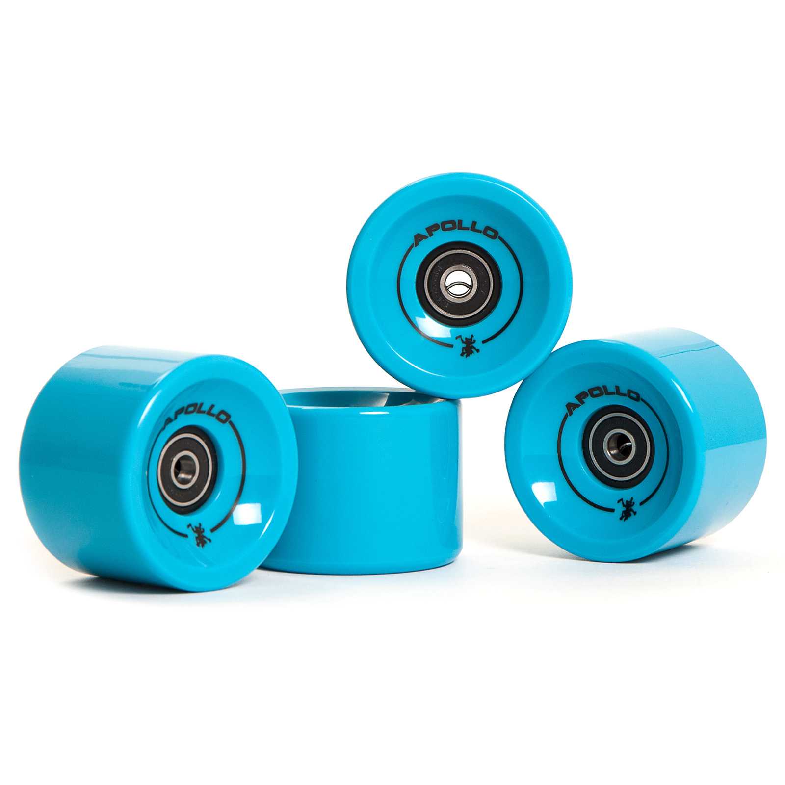 Apollo Longboard Rollen Wheel Set - Solid Blue/ blau - Ersatzrollen