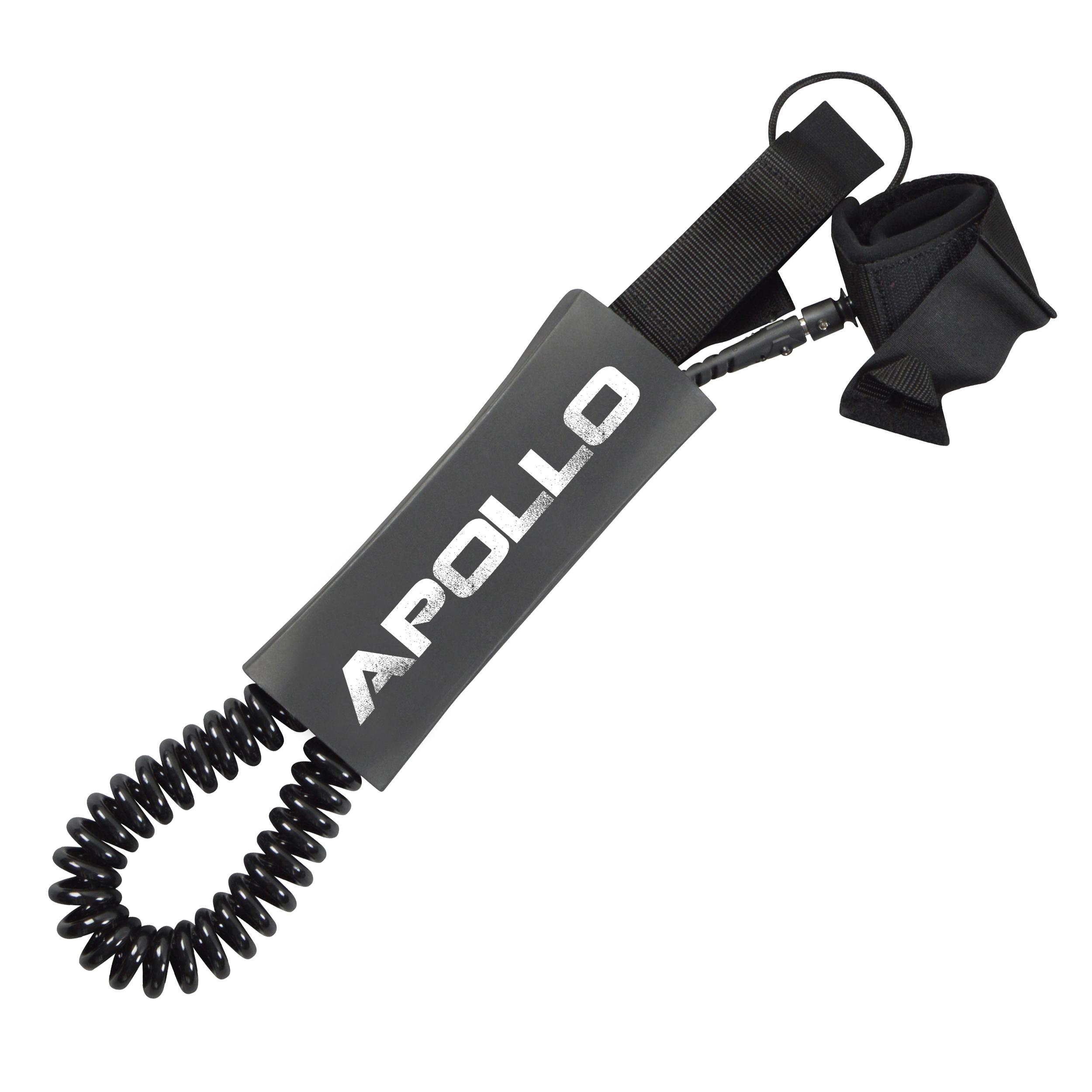 Apollo SUP Leash, Coiled Leash fürs Paddelboard, SUP-Leine
