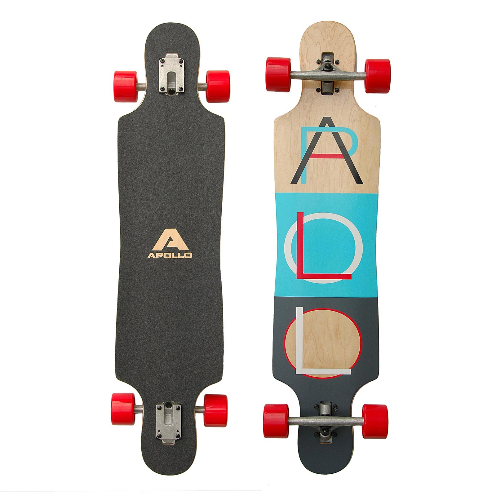 Apollo Tahiti Block Colours Twin Tip DT Longboard - 101,8cm x 24cm