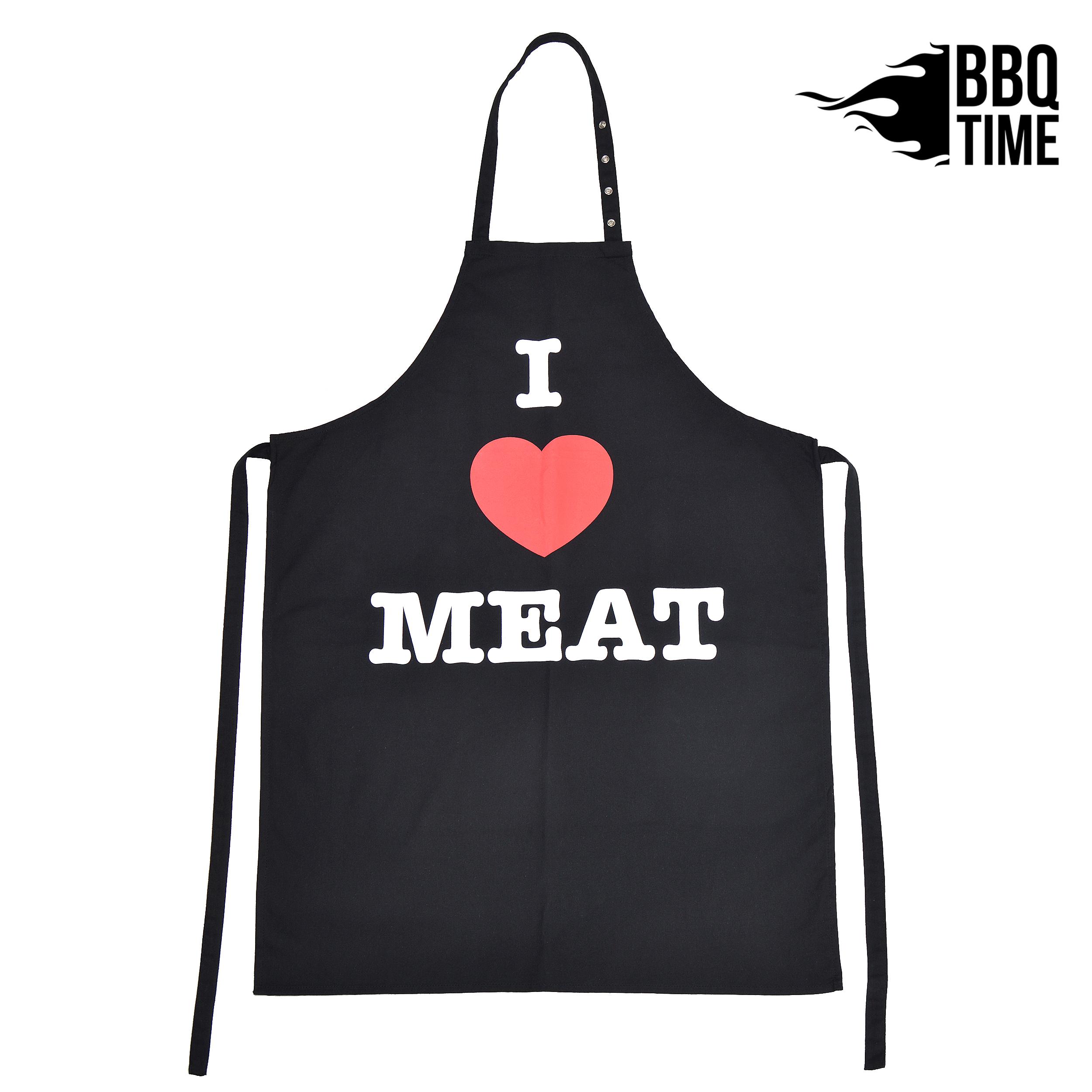 Grillschürze BBQ TIME - I Love Meat