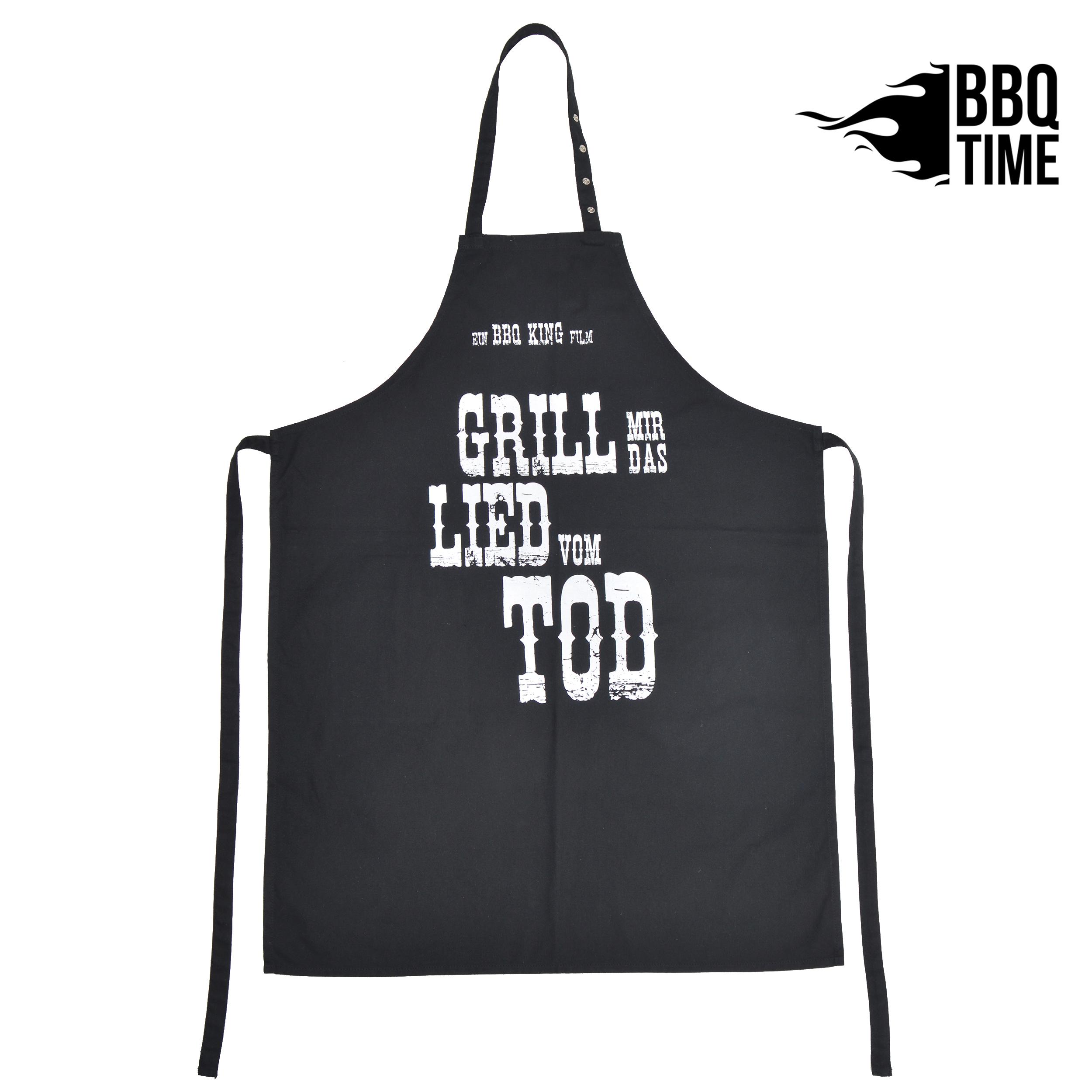 Grillschürze BBQ TIME - Grill mir das Lied vom Tod