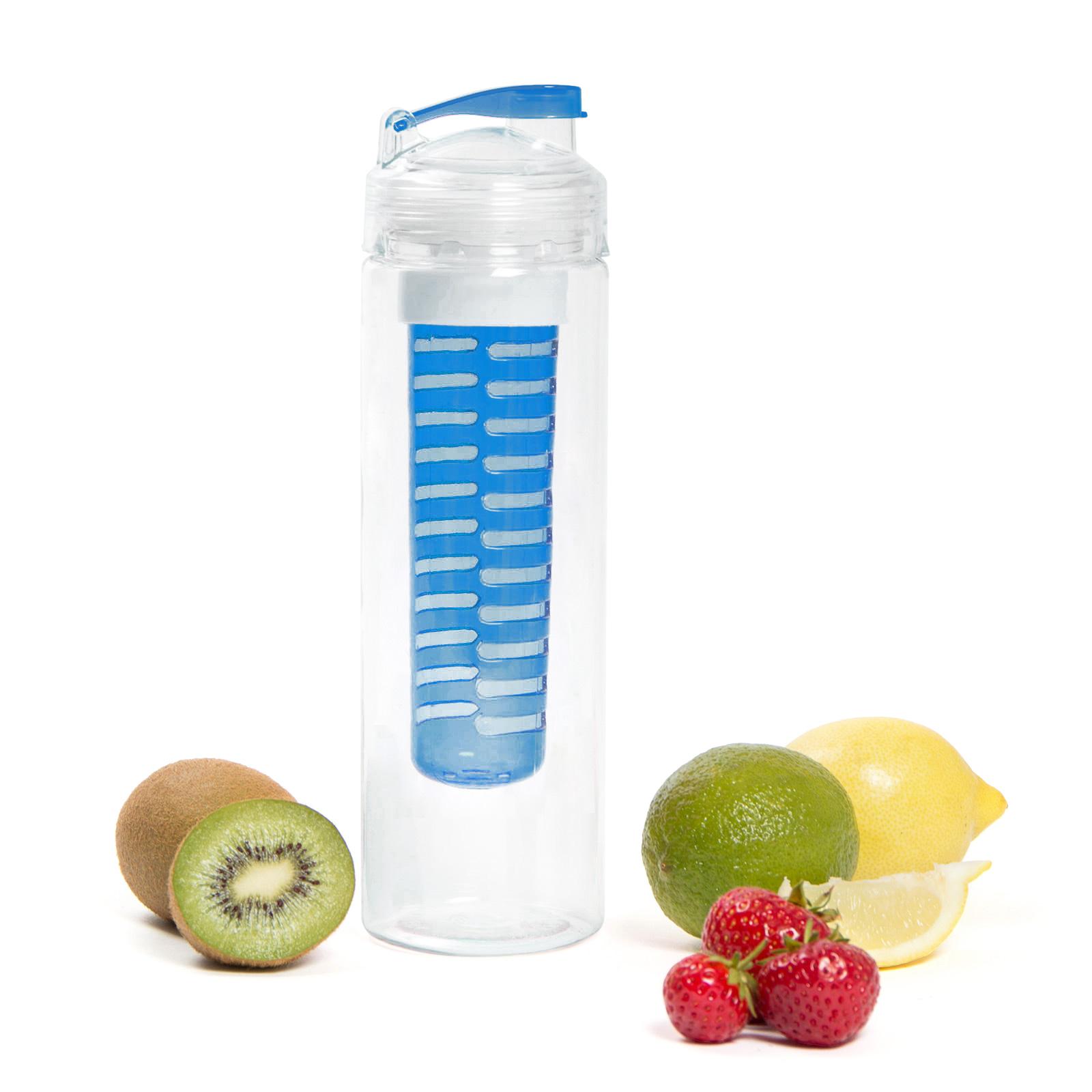 Fruit Infusion Trinkflasche für Fruchtschorlen - 700 ml - blau
