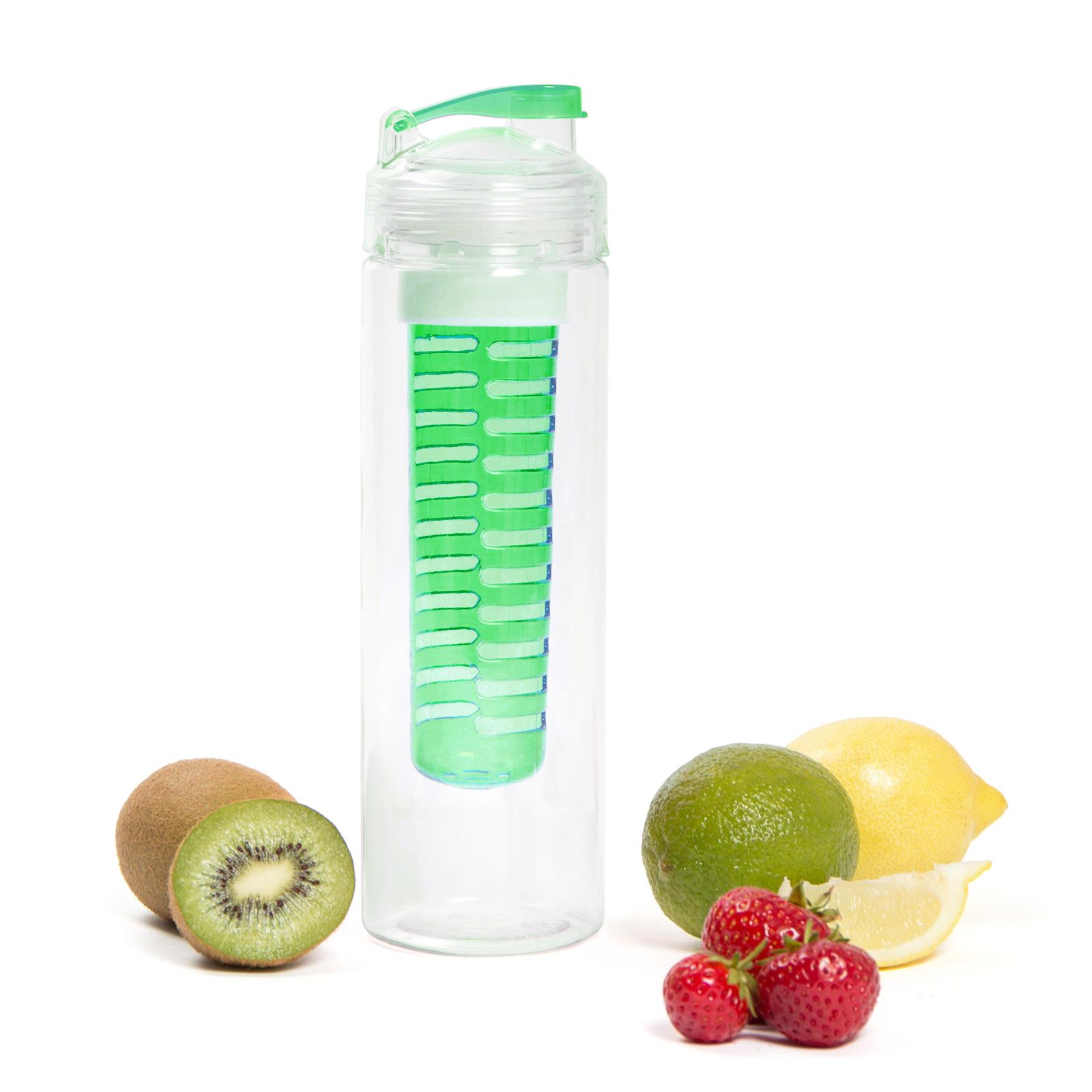 Fruit Infusion Trinkflasche für Fruchtschorlen - 700 ml - grün