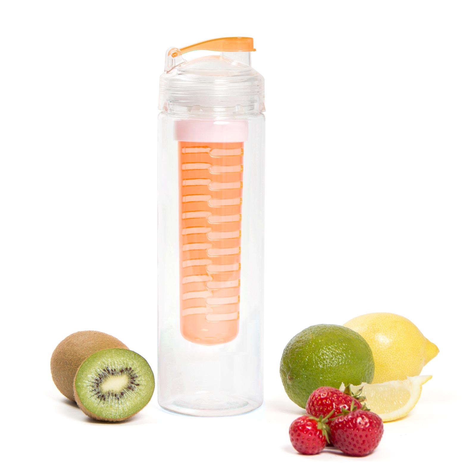 Fruit Infusion Trinkflasche für Fruchtschorlen - 700 ml - orange