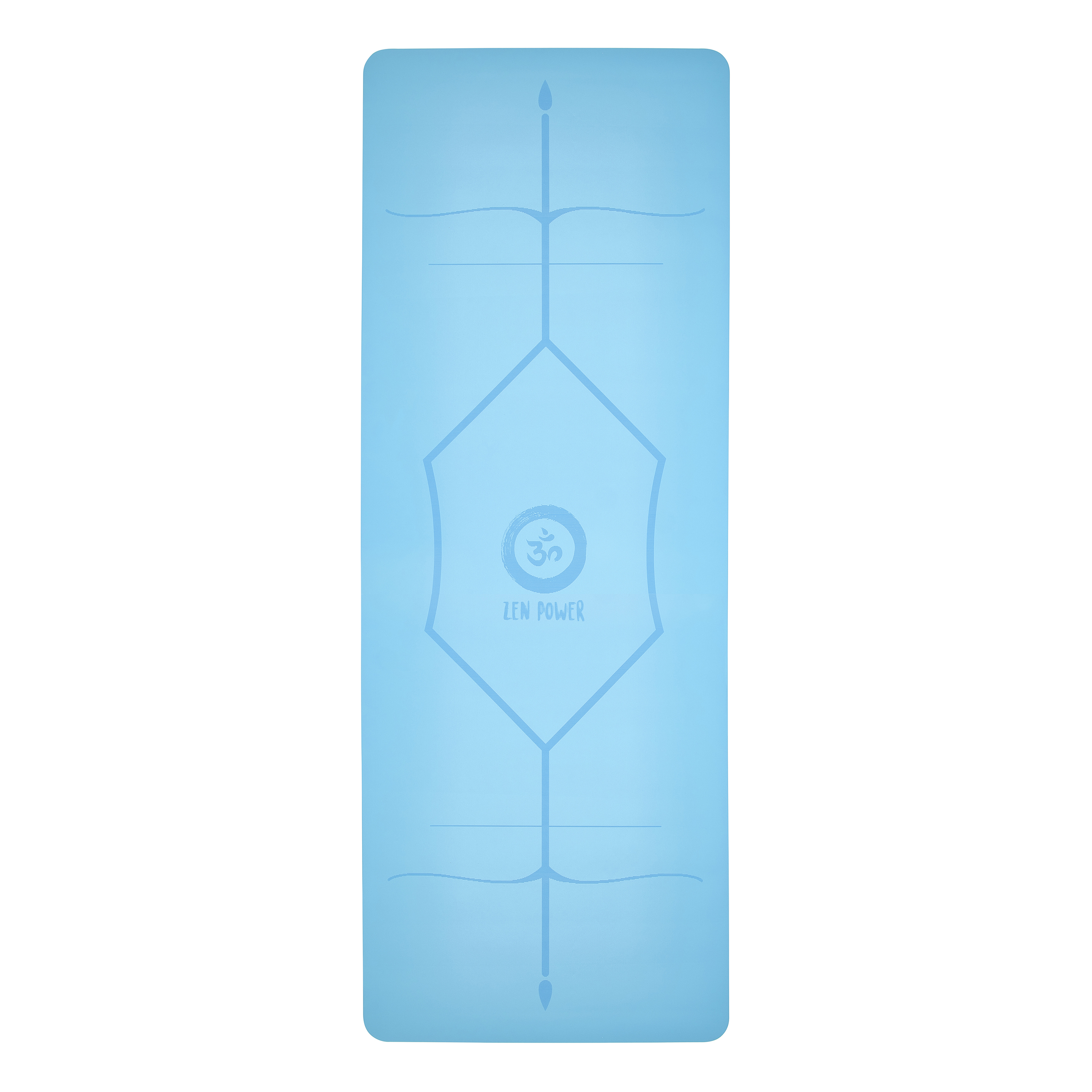 ZenPower Yogamatte Mandala - Light Blue