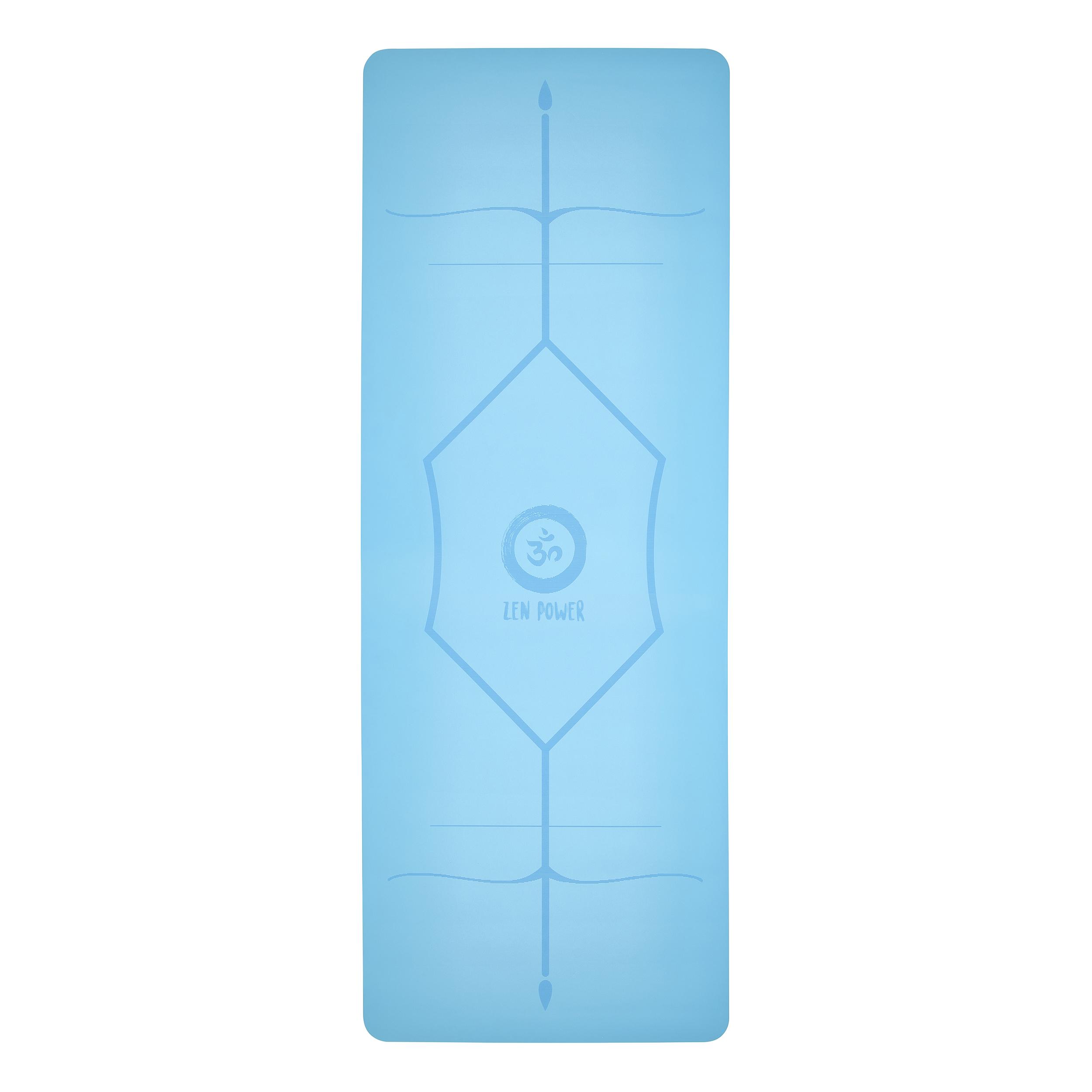 ZenPower Yogamatte Mandala - Light Blue