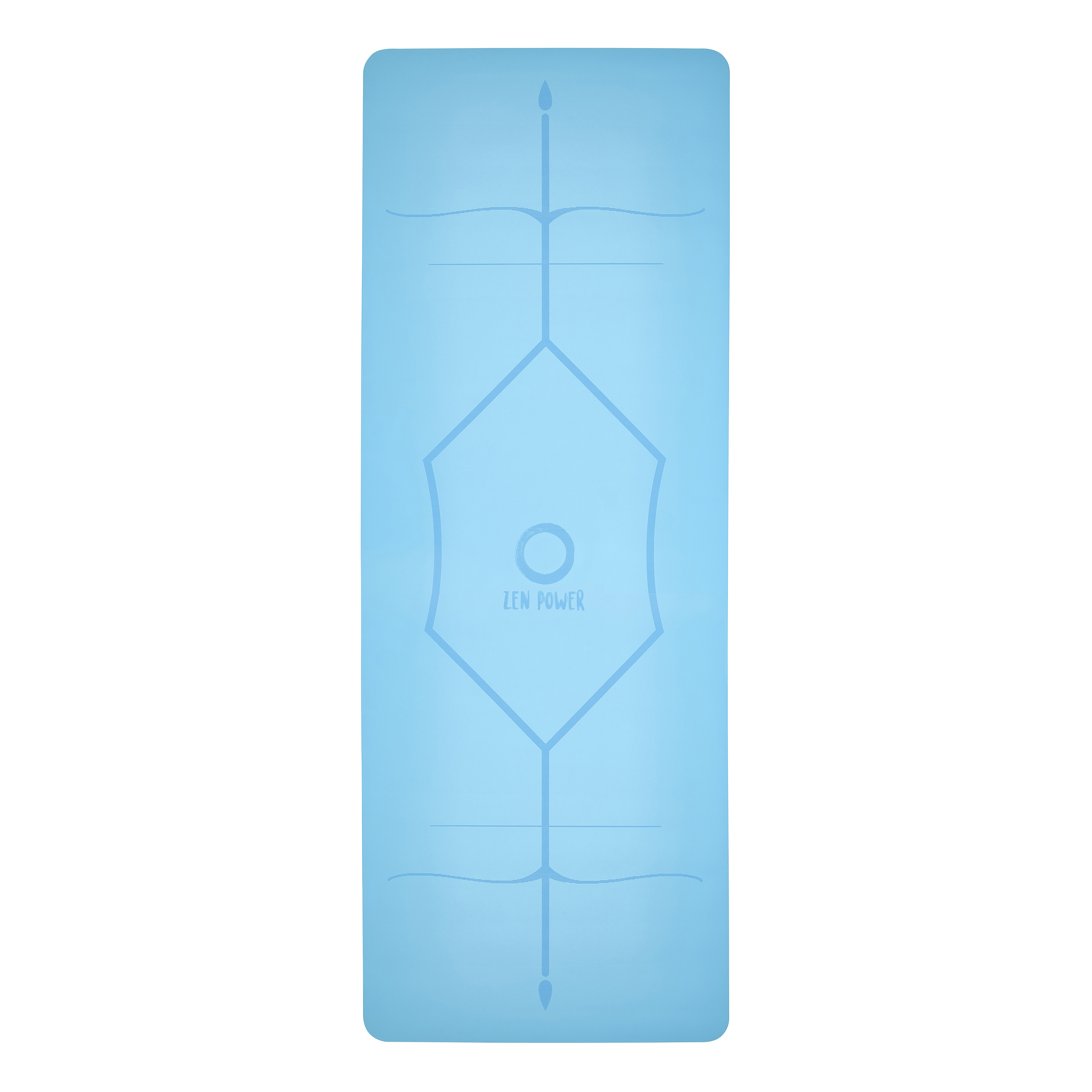 ZenPower Yogamatte Mandala - Hellblau