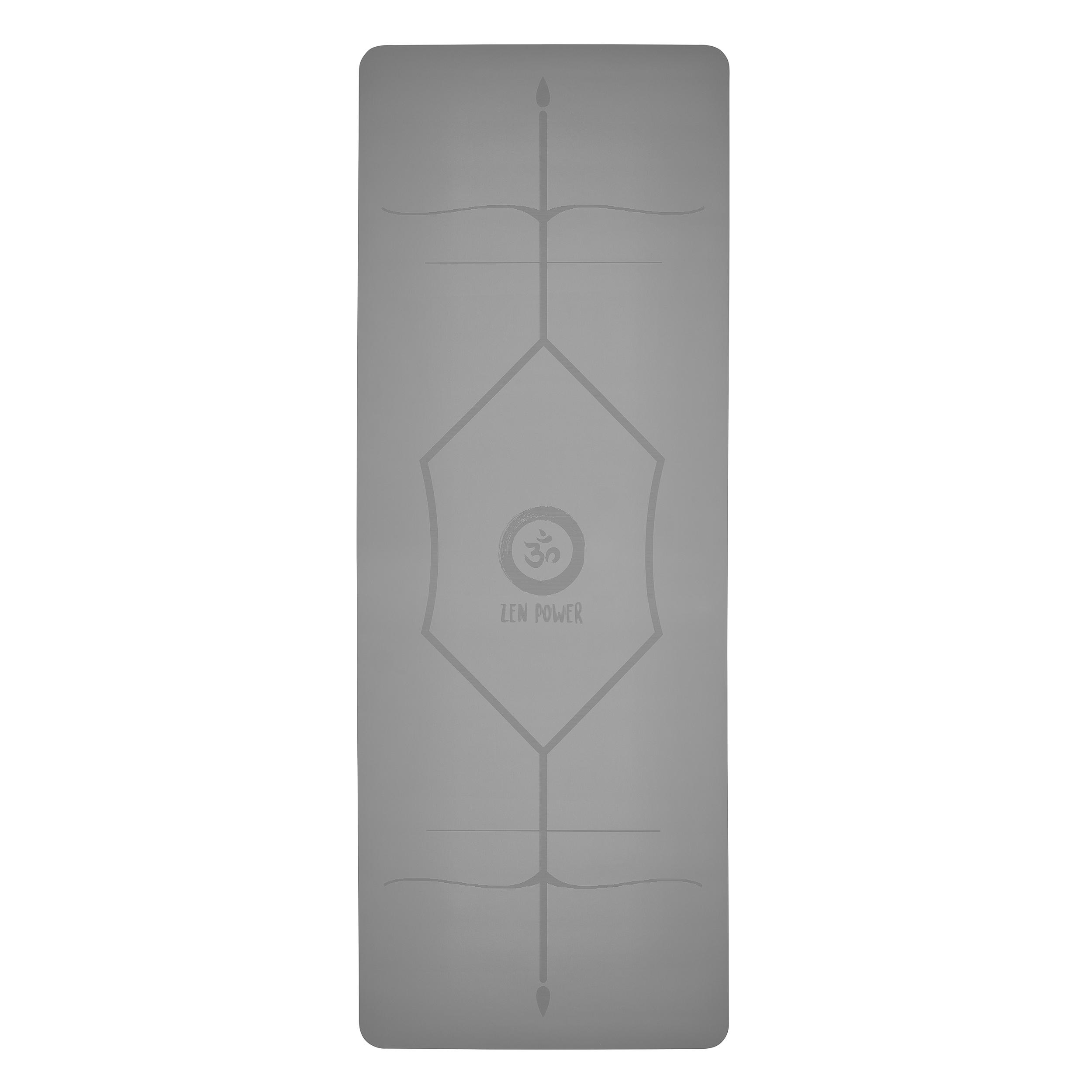 ZenPower Yogamatte Mandala - Hellgrau