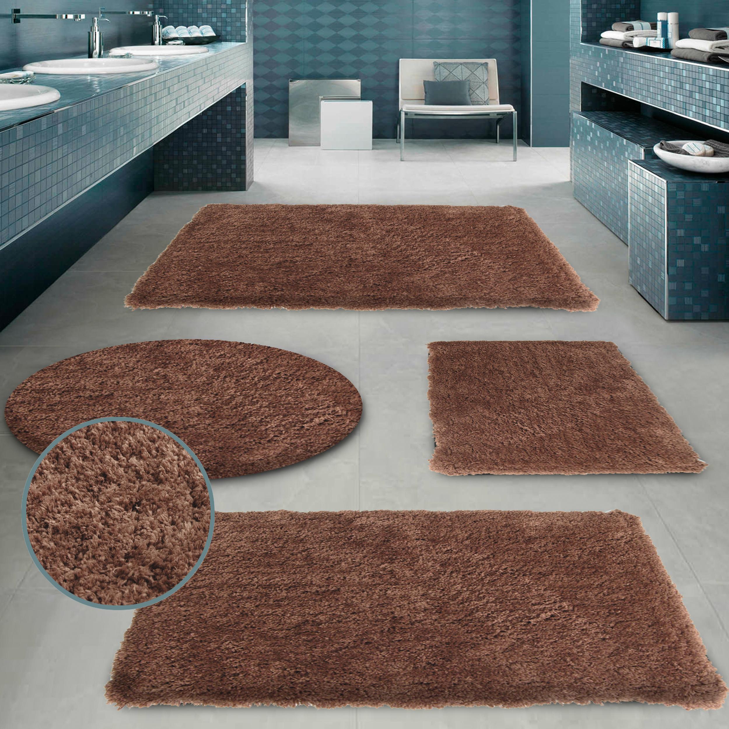Badgarnitur CLOUD Anthrazit Badezimmer Dusch Bade Matte Teppich Vorleger