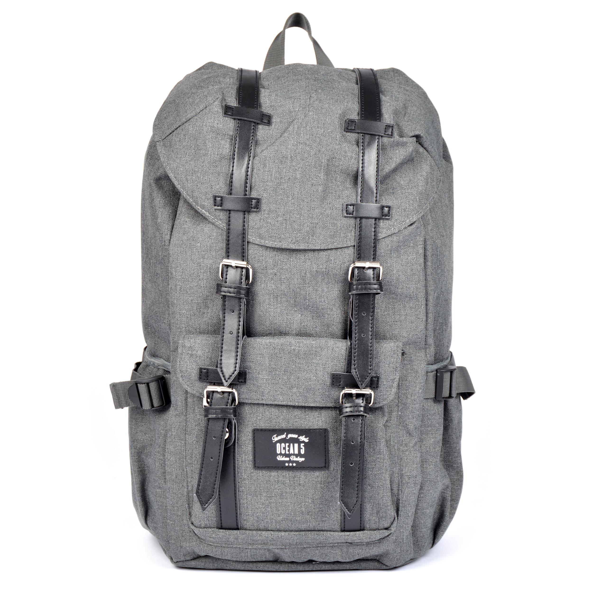 Ocean5 Montreal Rucksack für Notebooks- Grau meliert/graue Streifen