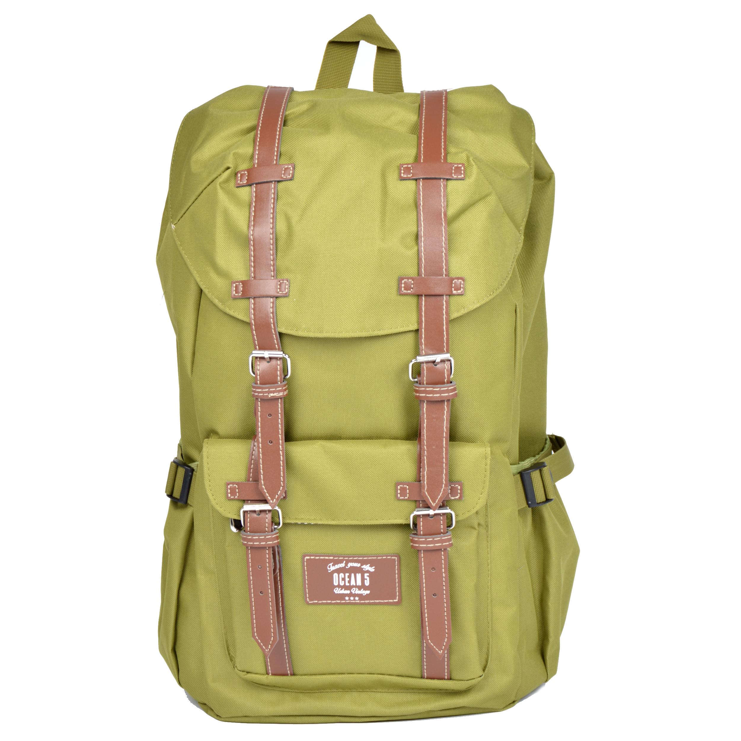 Ocean5 Montreal Rucksack für Notebooks- Farbe: Grün/hellgraue Streifen