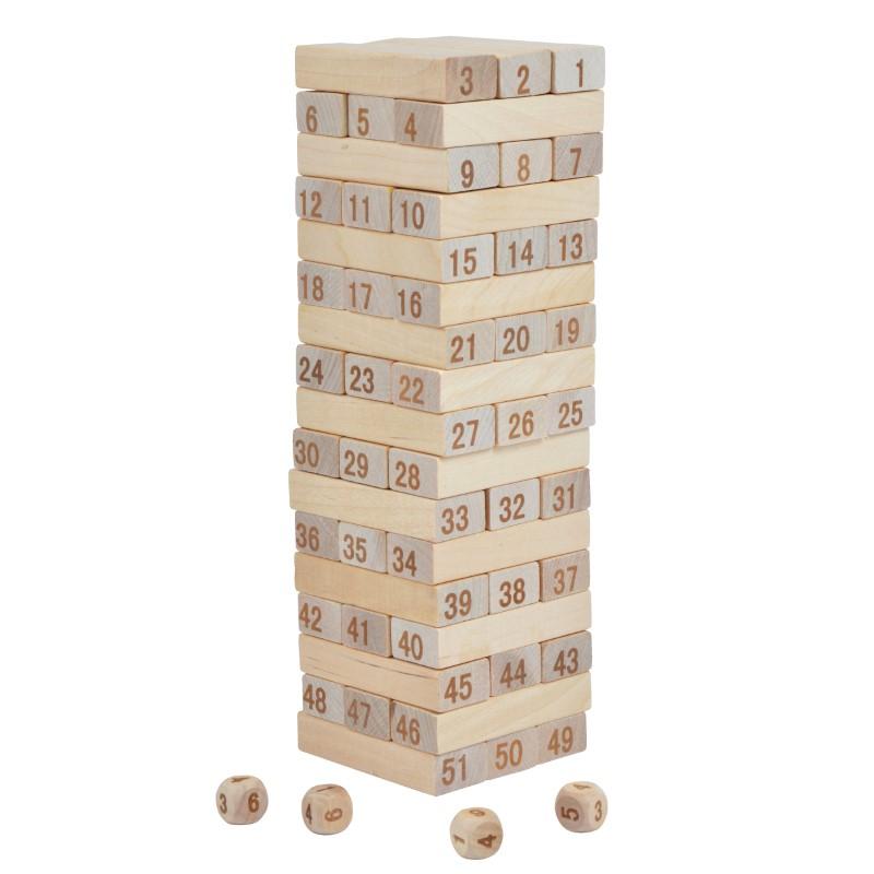 Ocean5 Spielwarenwackelturm mit Zahlen 27,5x8x8