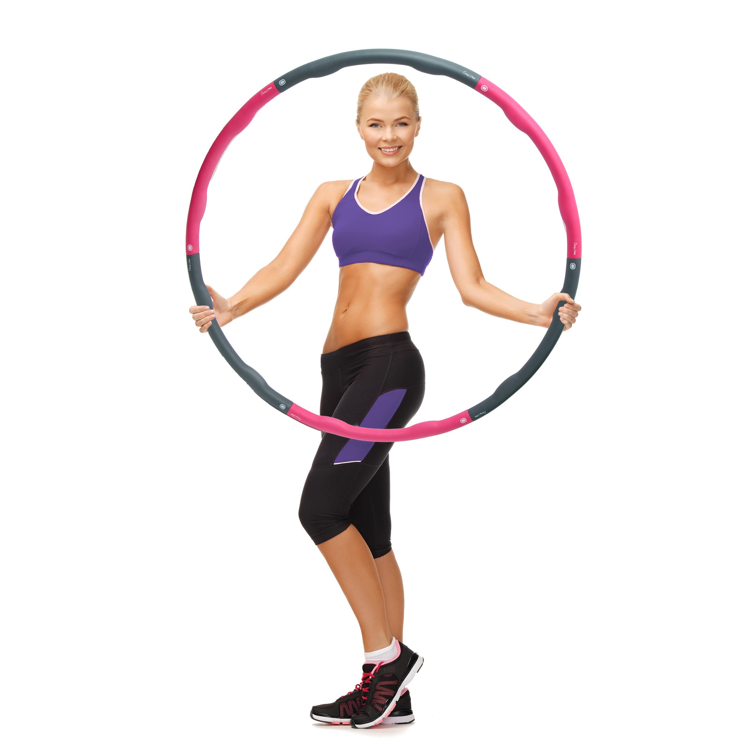 Farbe Crazy Hoop Medium Pro Grau/Pink