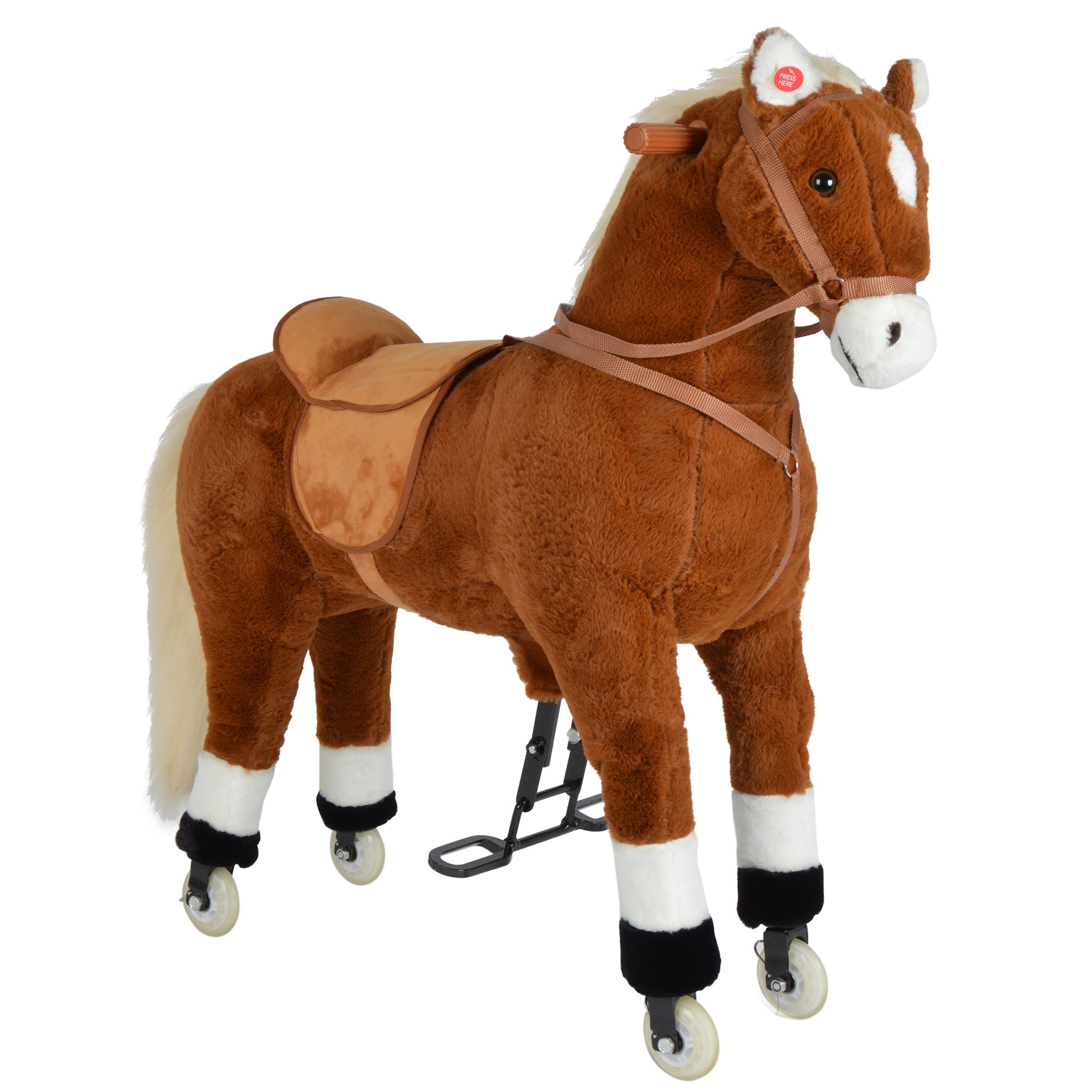 Pink Papaya XXL Reitpferd auf Rollen AMIGO, 90cm Spielpferd