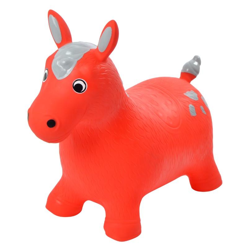 Pink Papaya Hüpftier Pferd Rot - Fred