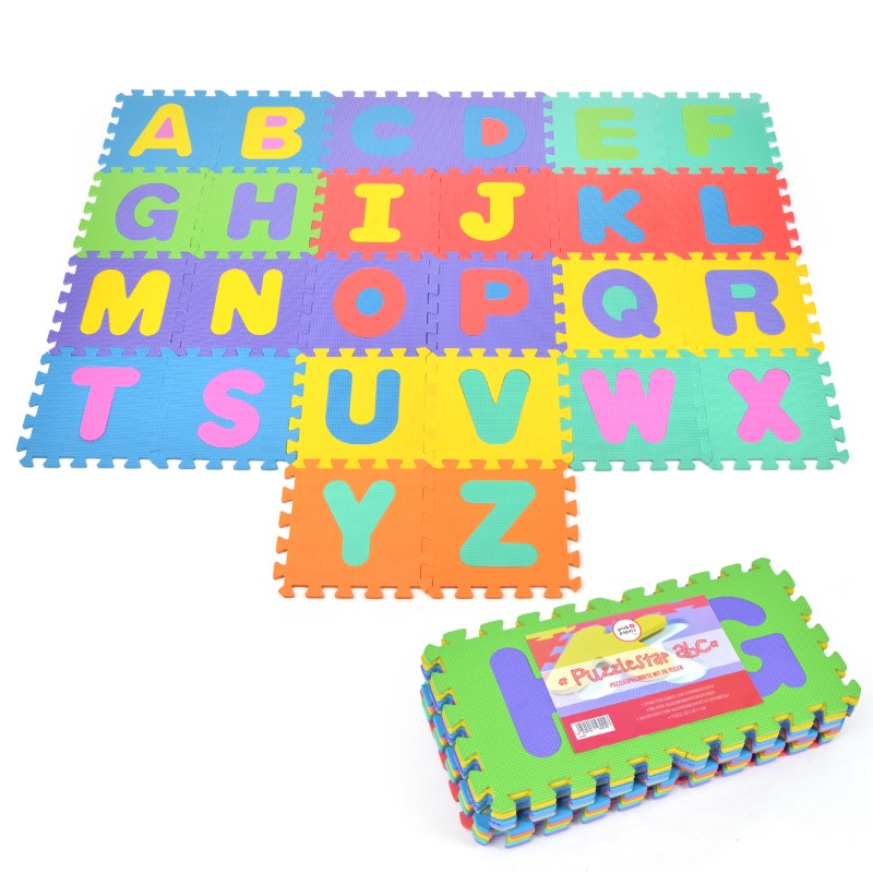 "Pink Papaya EVA Puzzelmatte ""Puzzlestar ABC"" 26 Felder (A-Z, ohne Rand)"