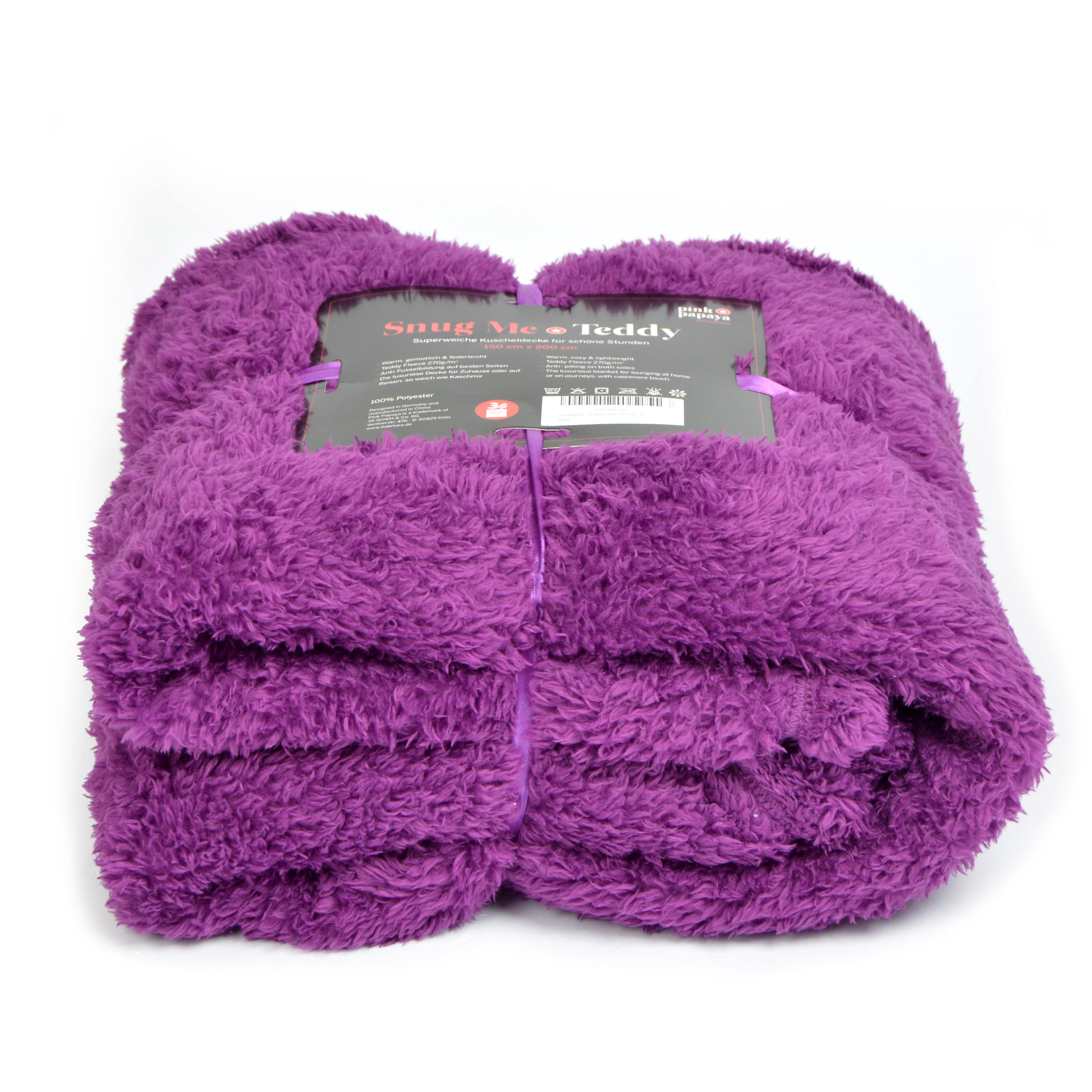 Snug Me Teddy Fleece Kuschel-Decke Lila