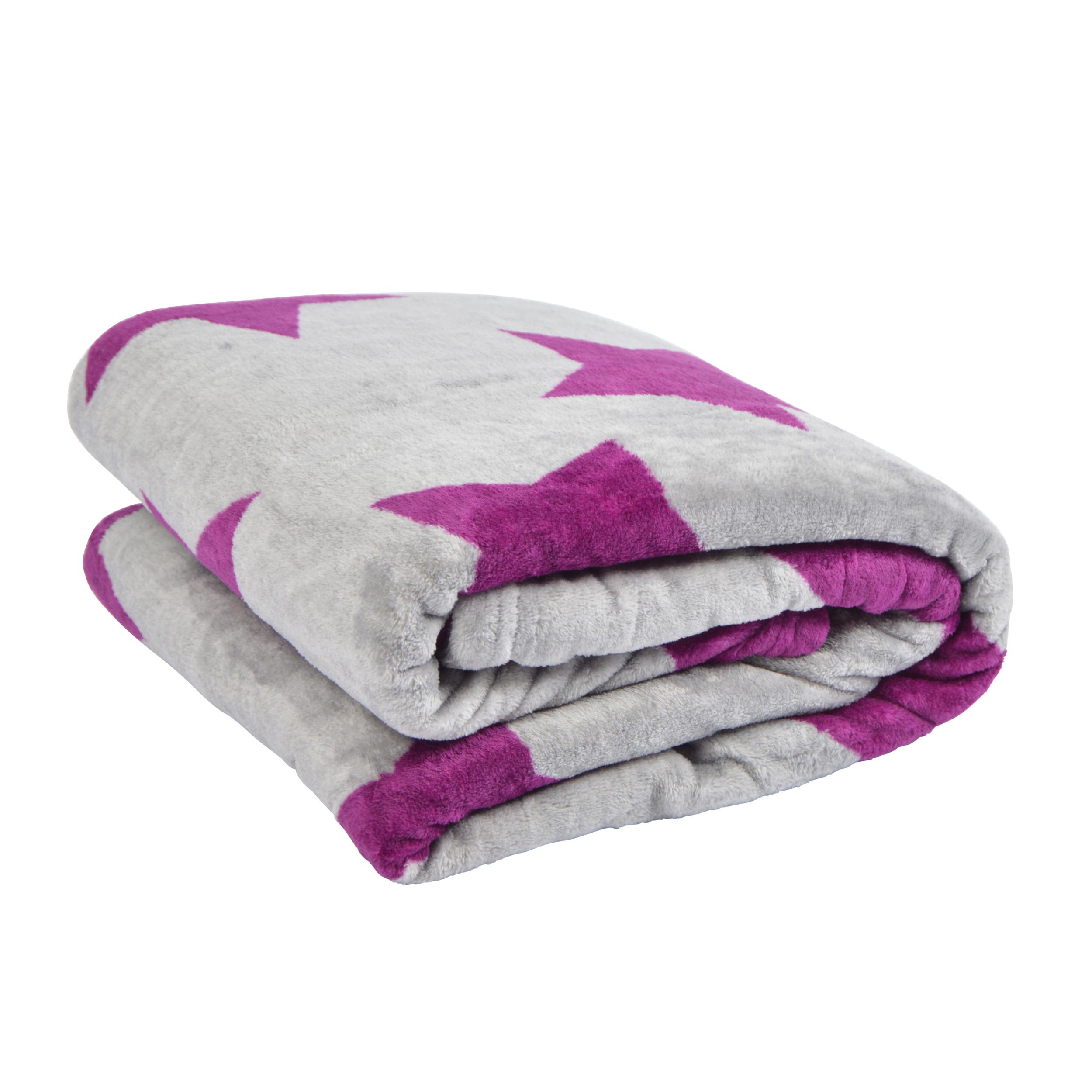 pink papaya supersoft stars kuscheldecke 150 x 200 cm in verschiedenen farben ebay. Black Bedroom Furniture Sets. Home Design Ideas