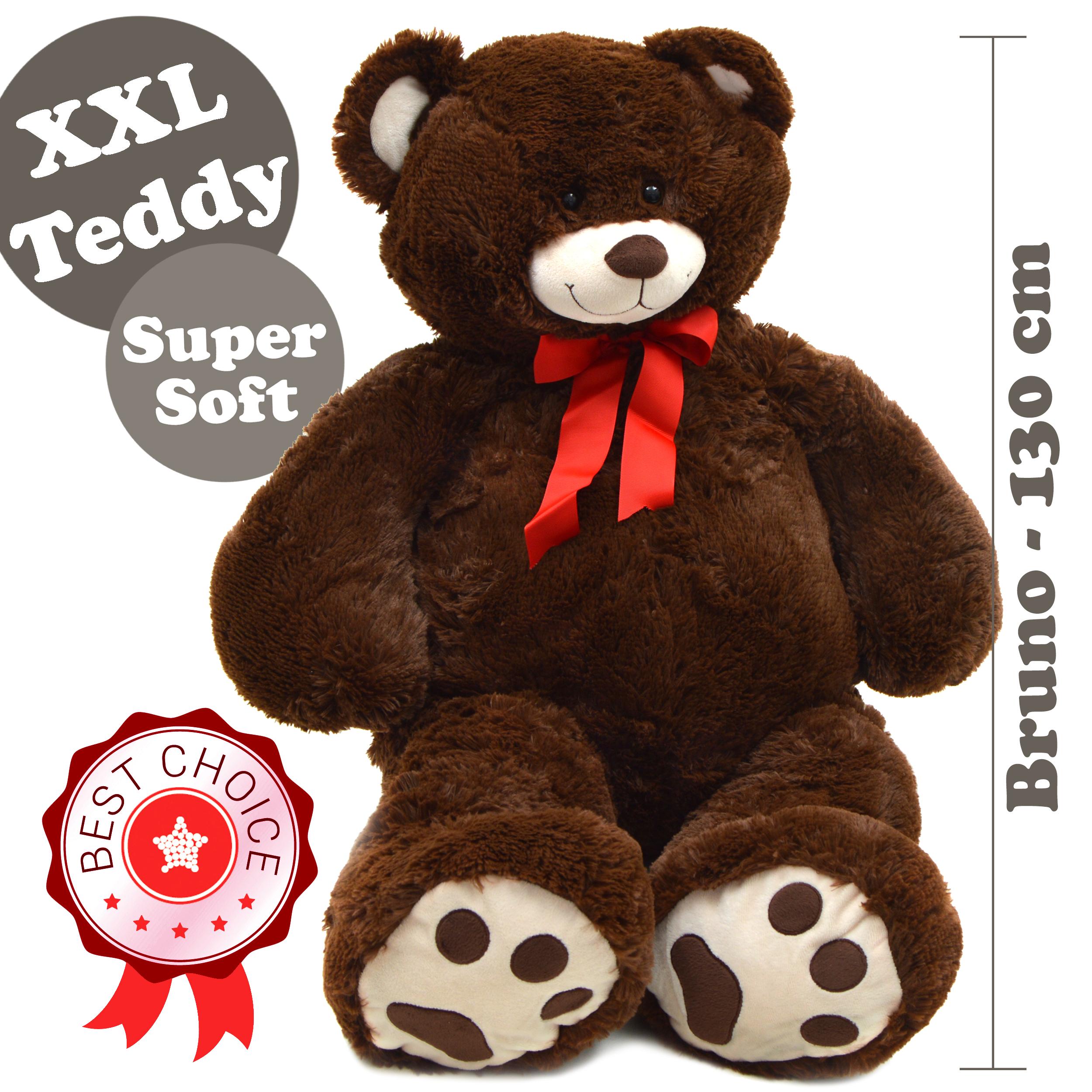 Teddybär Bruno, 100cm XXL Teddy-Plüschbär in braun