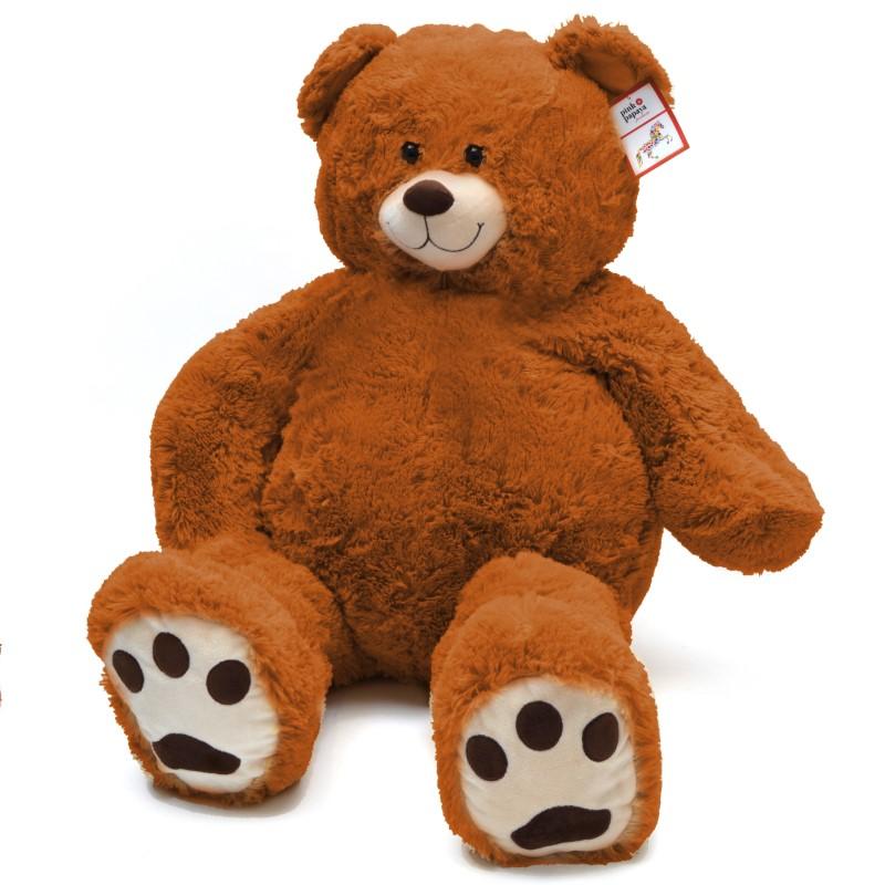 Teddybär Charlie, 100cm XXL Teddy-Plüschbär in hellbraun