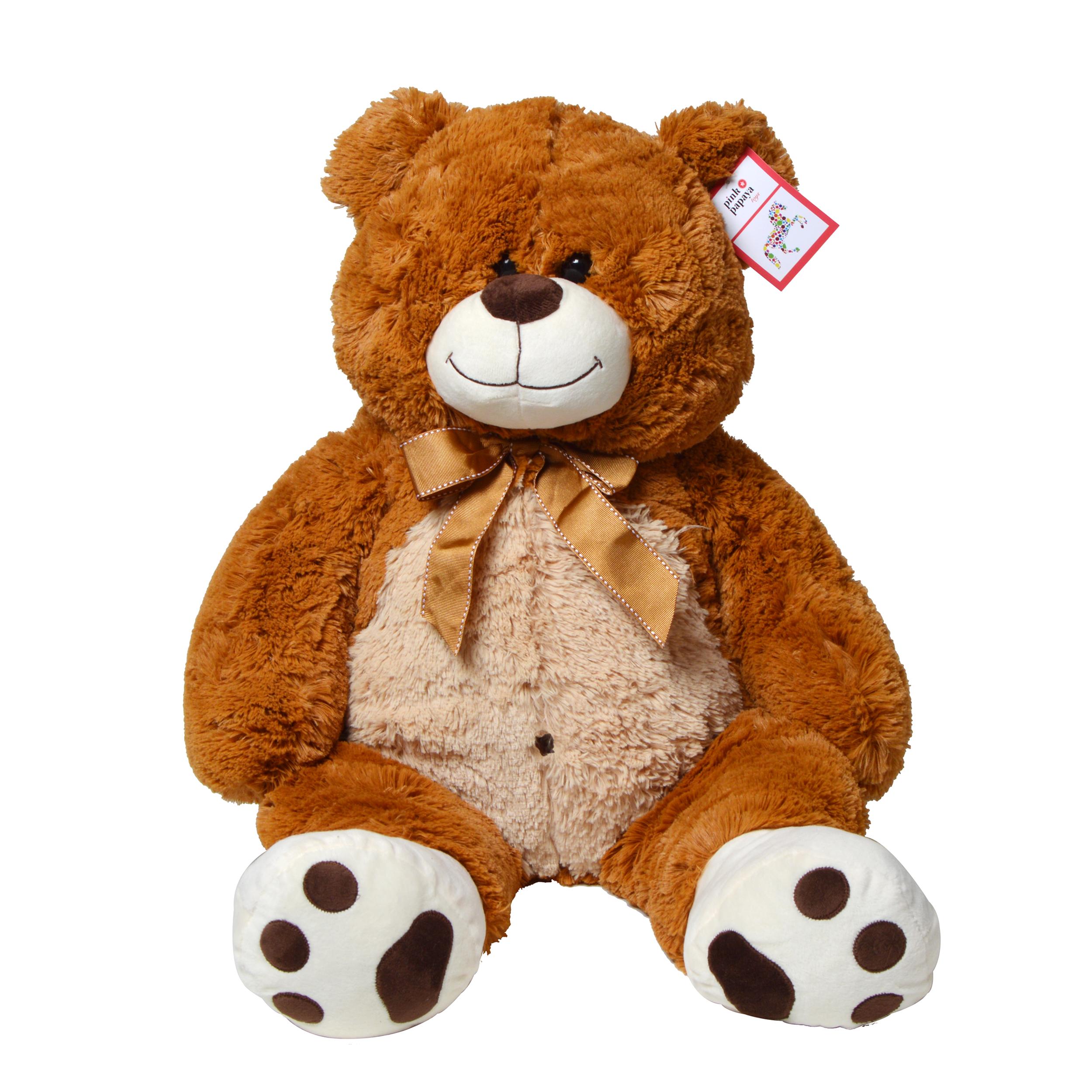 Riesen-Teddy Flocke, 100cm XXL Plüschbär in hellbraun