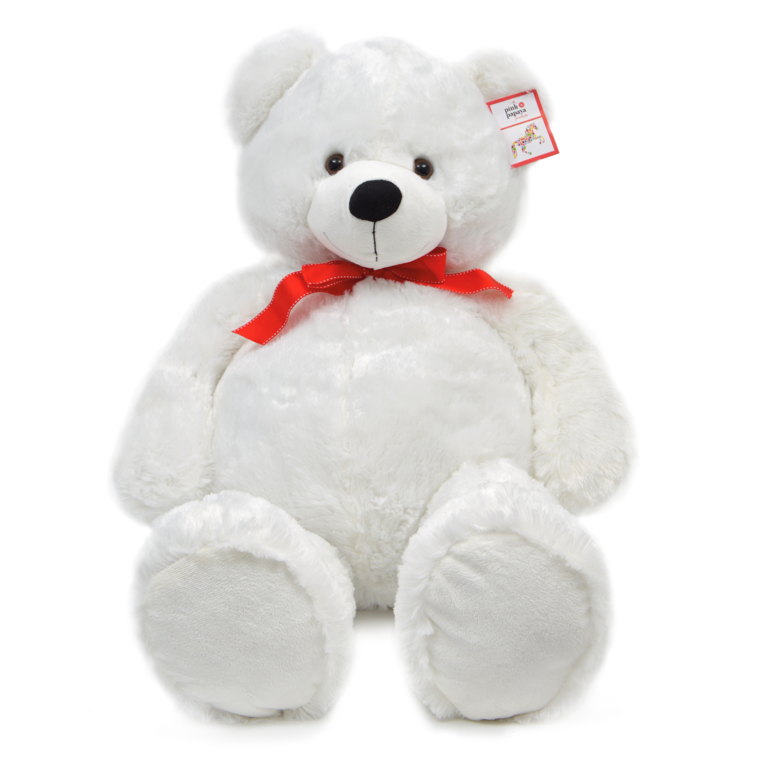 Teddybär Karlchen, 100cm XXL Teddy-Plüschbär in Weiß