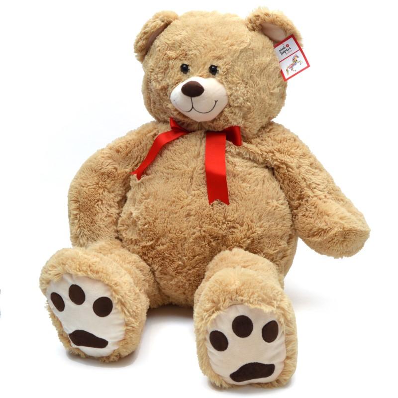 Teddybär Monti, 100cm XXL Teddy-Plüschbär in beige