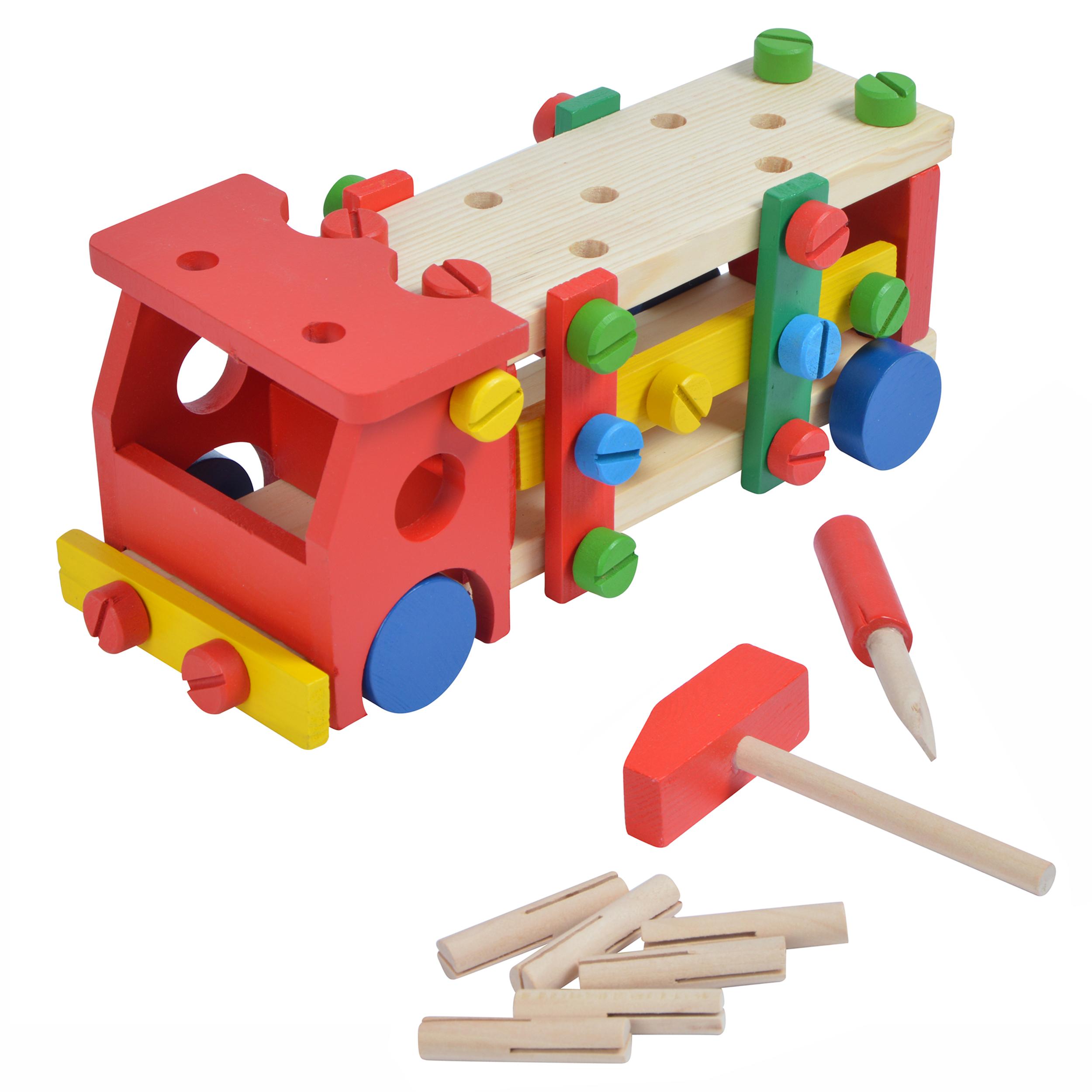 Pink Papaya Feuerwehr-Auto inklusive Kinder Werkbank mit Werkzeug