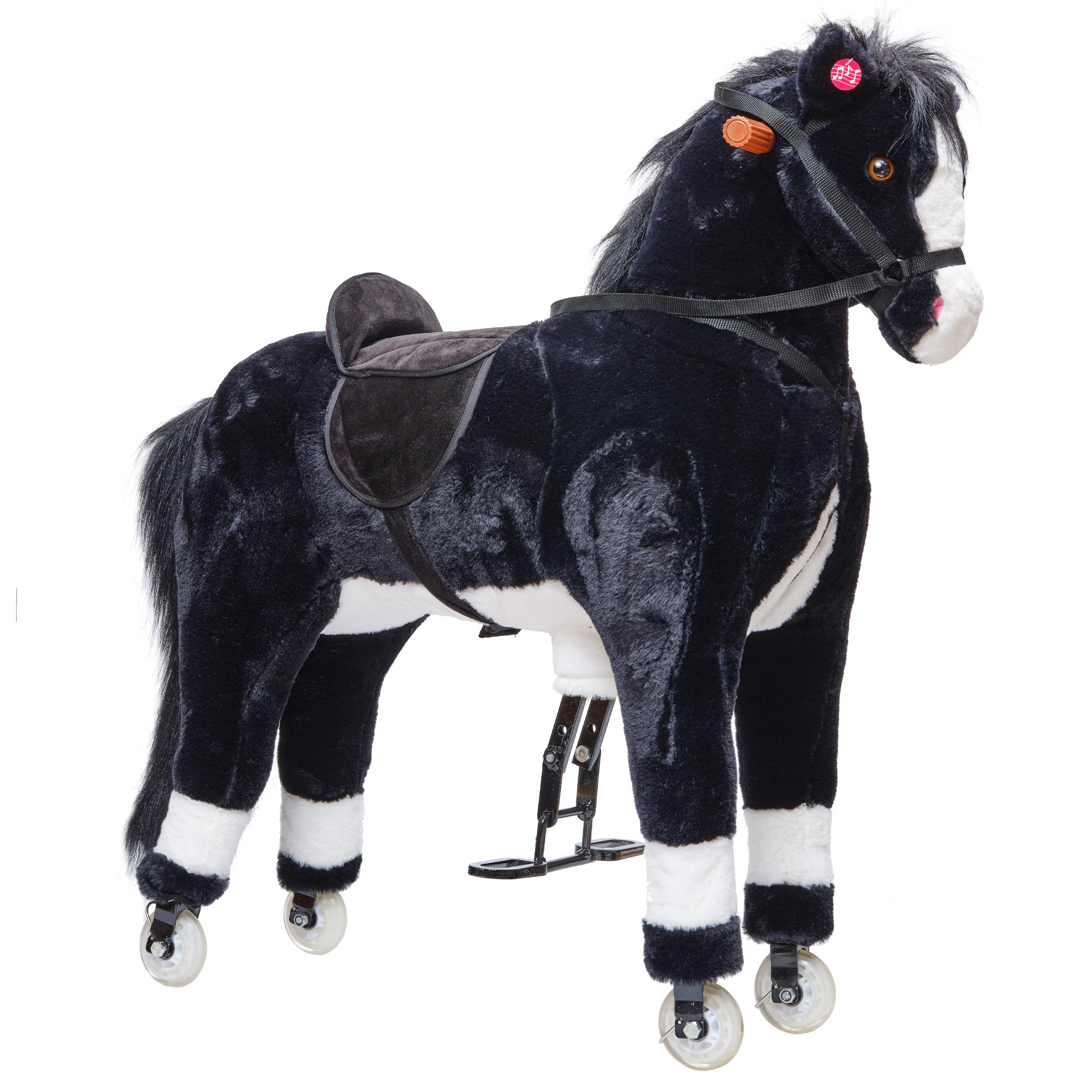AKZEPTABEL - Pink Papaya XXL Reitpferd auf Rollen PACO, 90cm Spielpferd