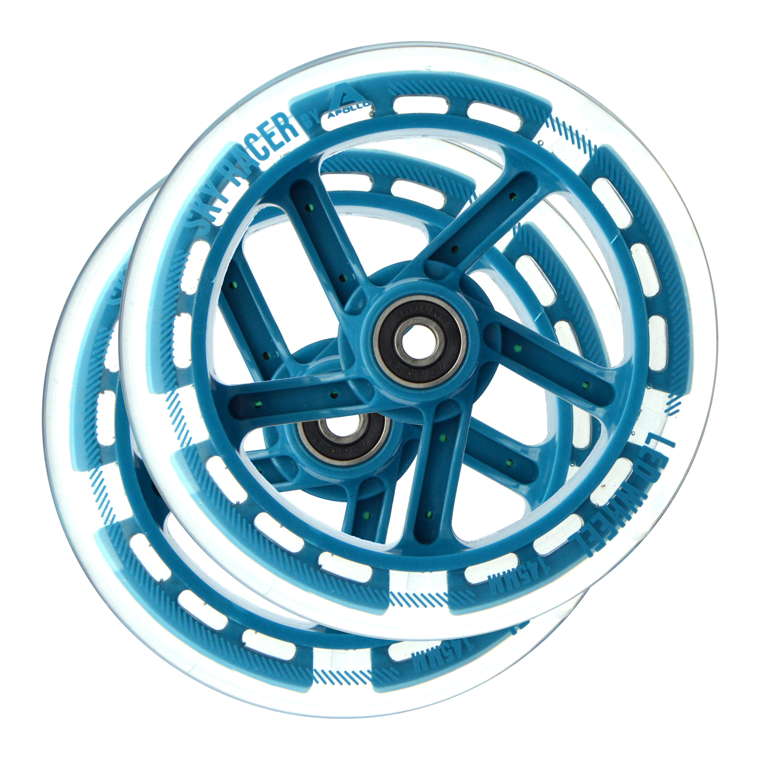 Apollo Wheel Set Skyracer - Ersatzräderset -Blau ABEC 7 Kugellager