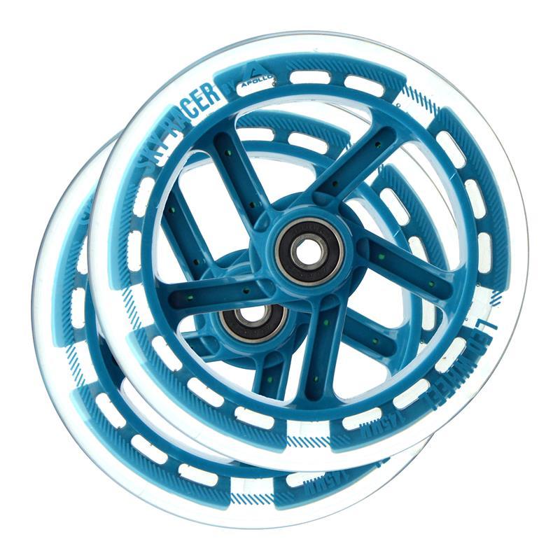 Apollo Wheel Set Skyracer - Ersatzräderset -Blau ABEC 7 Kugellager