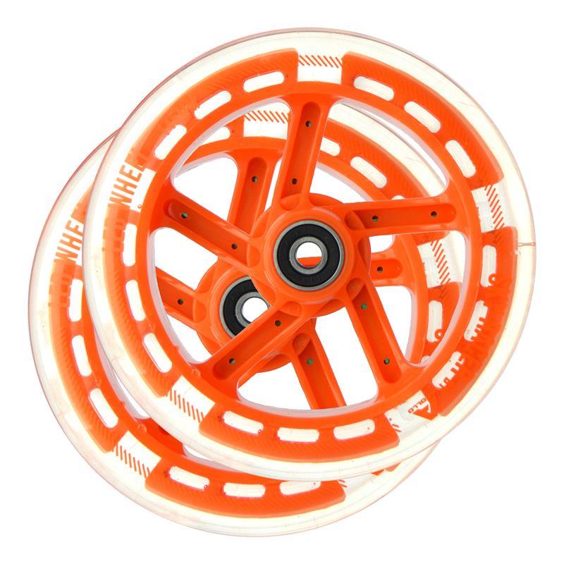 Apollo Wheel Set Skyracer - Orange, Ersatzräderset ABEC 7 Kugellager