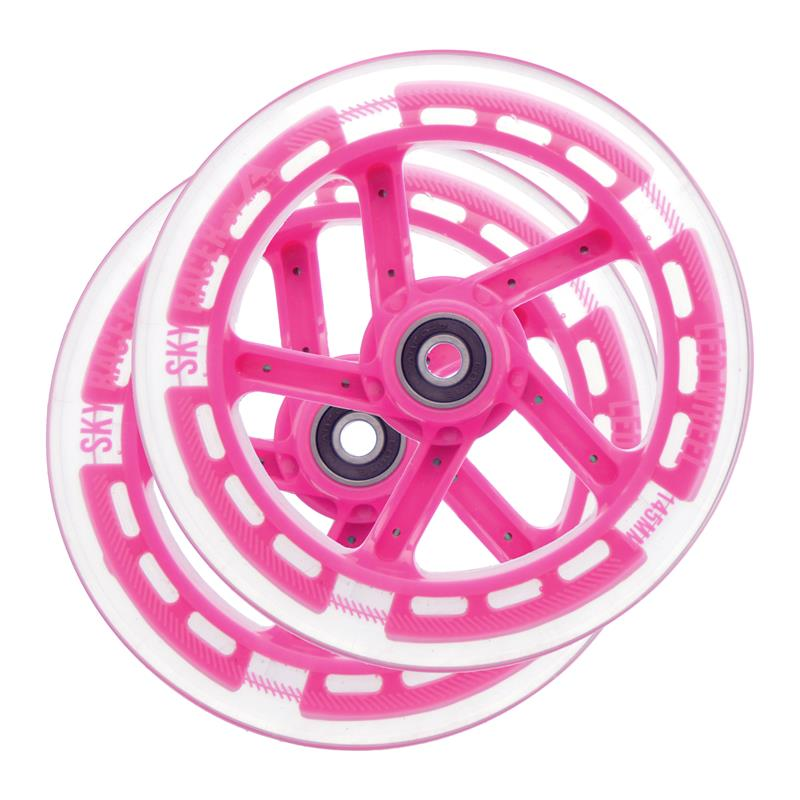 Apollo Wheel Set Skyracer - Pink, Ersatzräderset ABEC 7 Kugellager