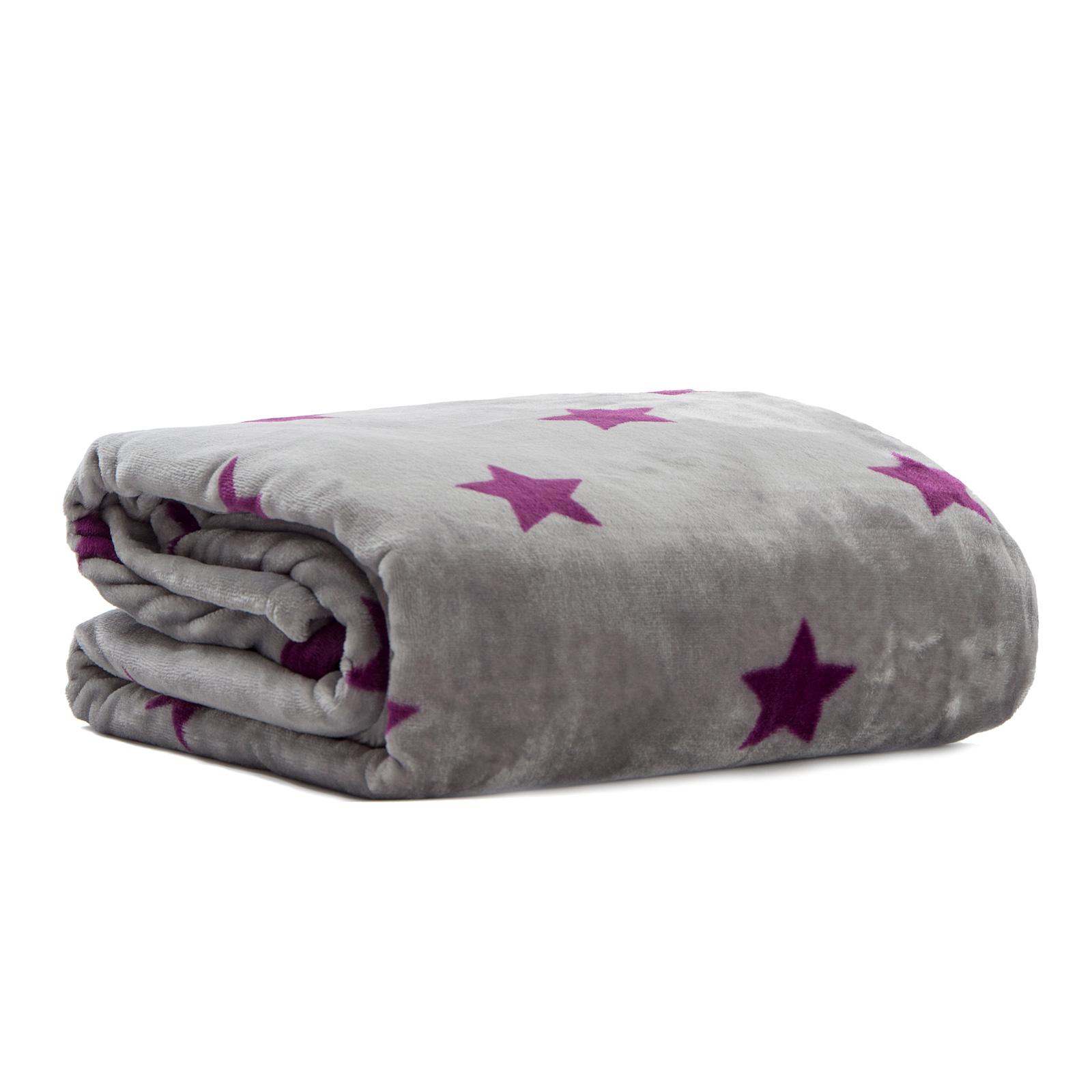 Pink Papaya Snug Me Supersoft STARS Grau/Lila 150 x 200 cm