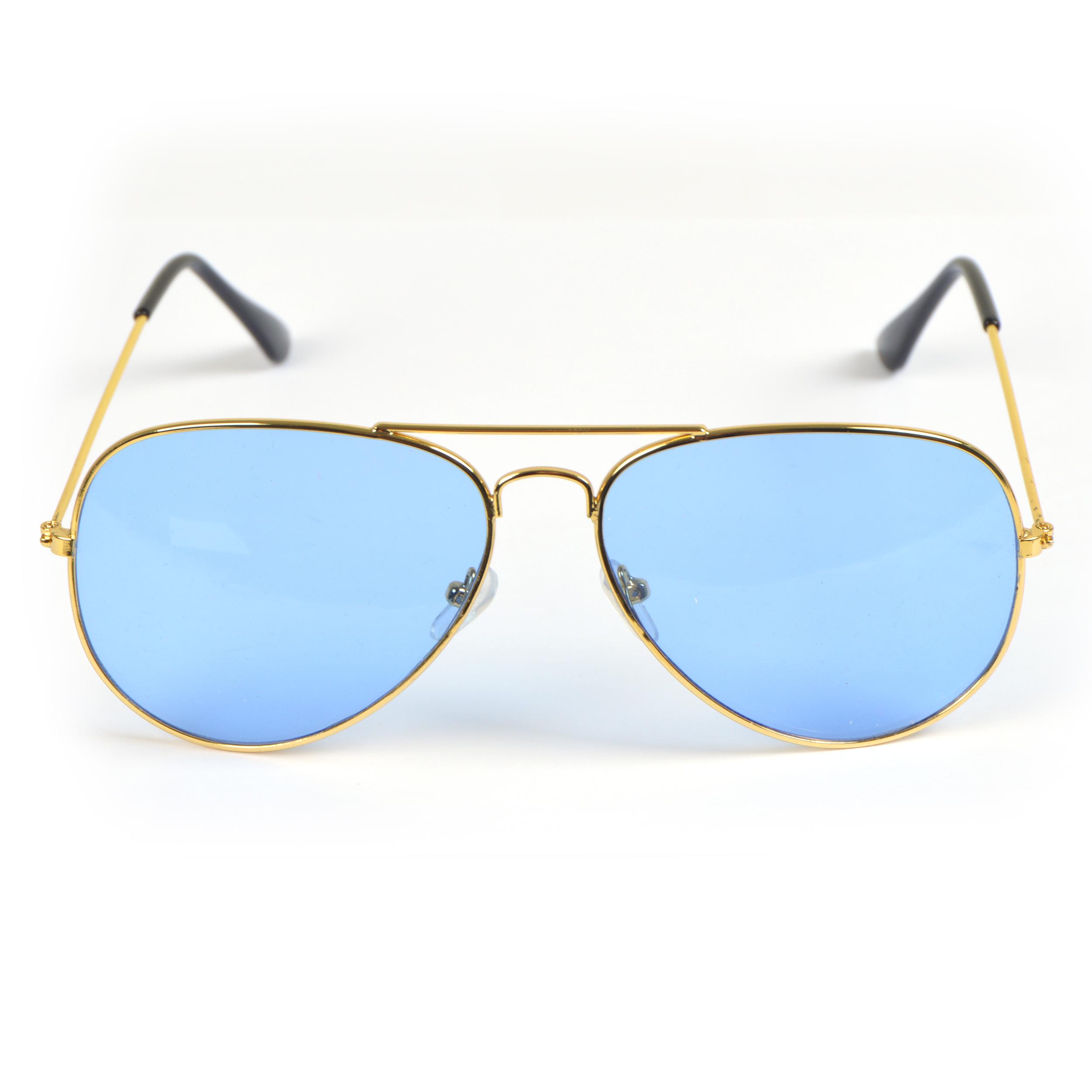 Sonnenbrille, Light, Pilotenbrille - Goldfassung, Gläser hellblaue