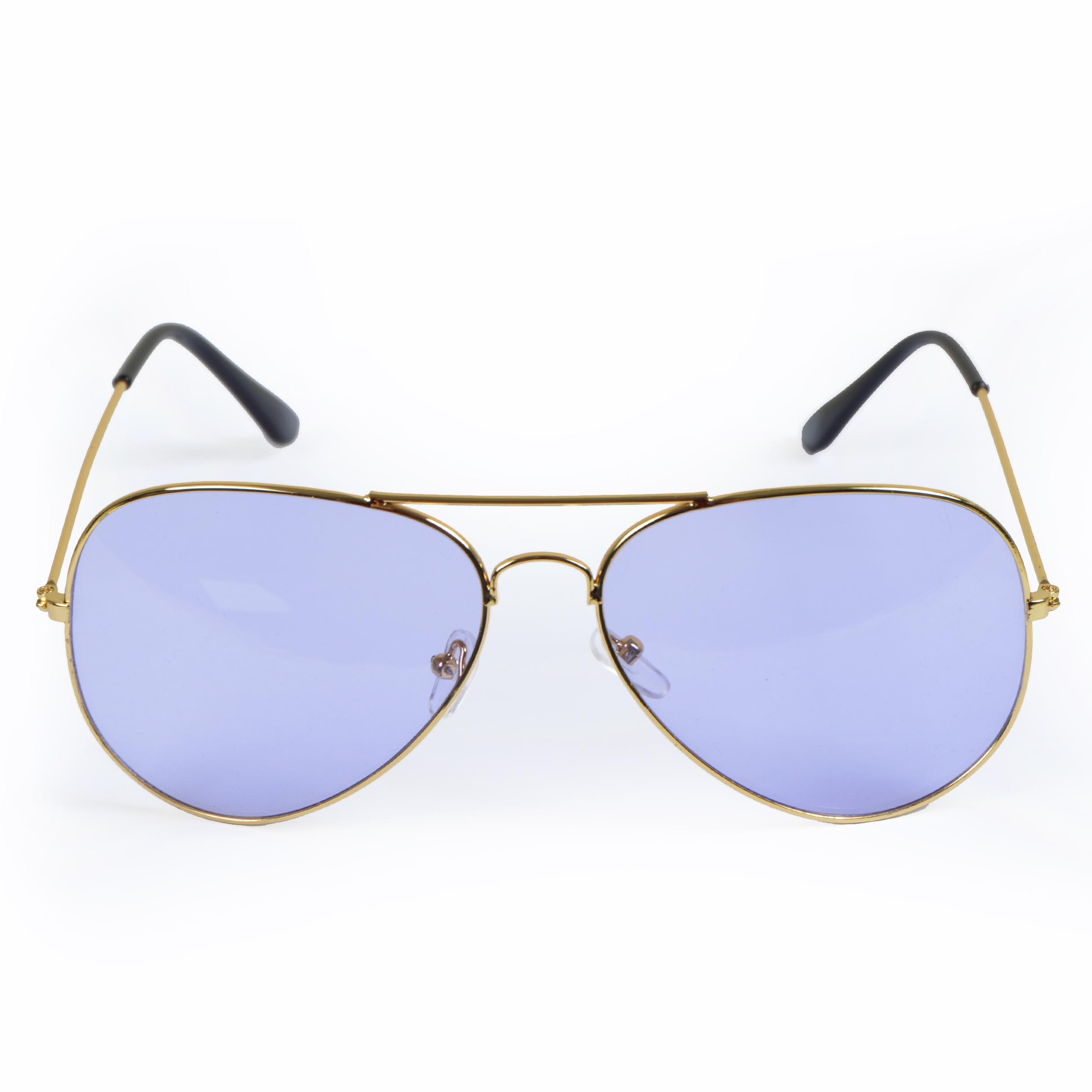 Sonnenbrille, Light, Pilotenbrille - Goldfassung, Gläser Hell-lila