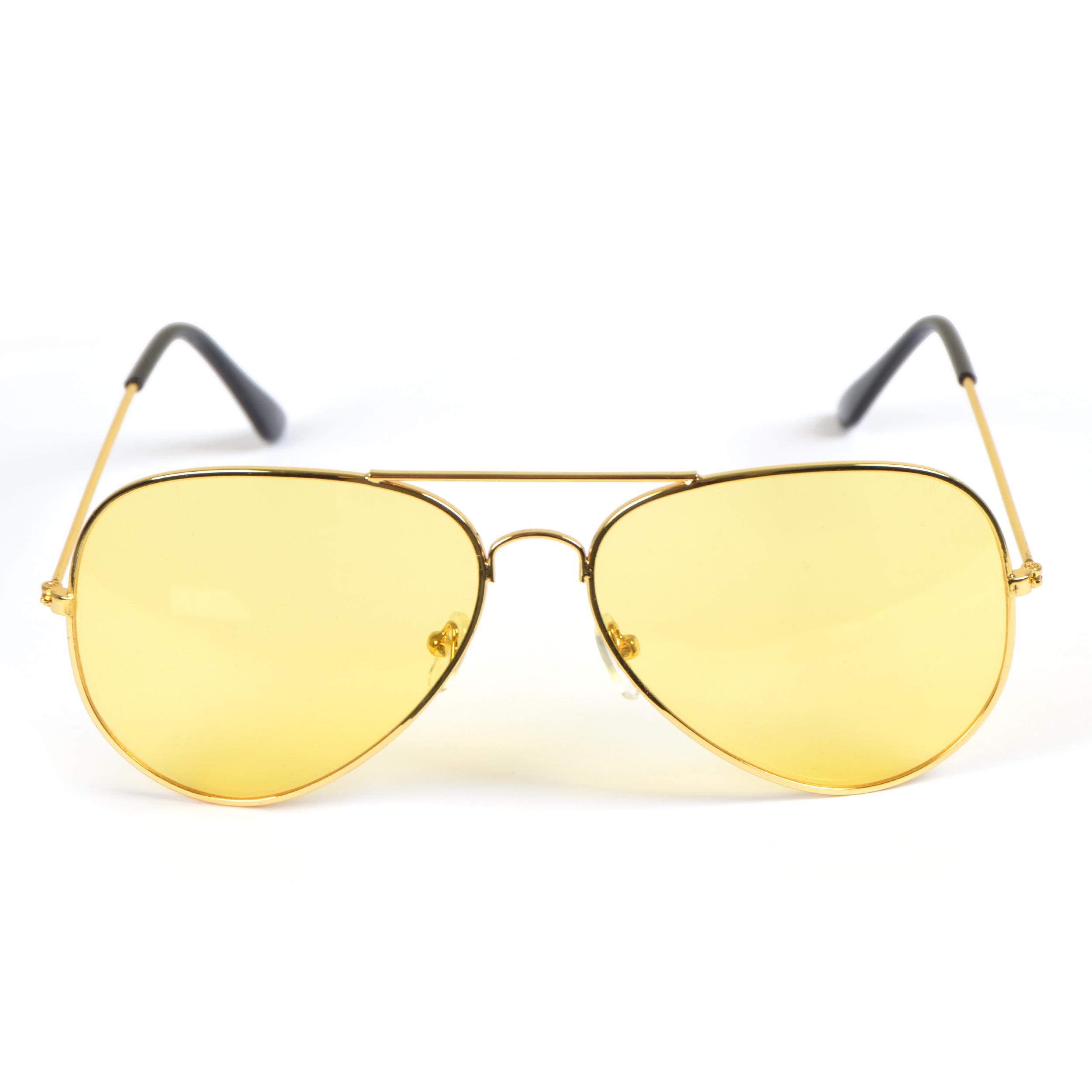 Sonnenbrille, Light, Pilotenbrille - Goldfassung, Gläser gelb/gold