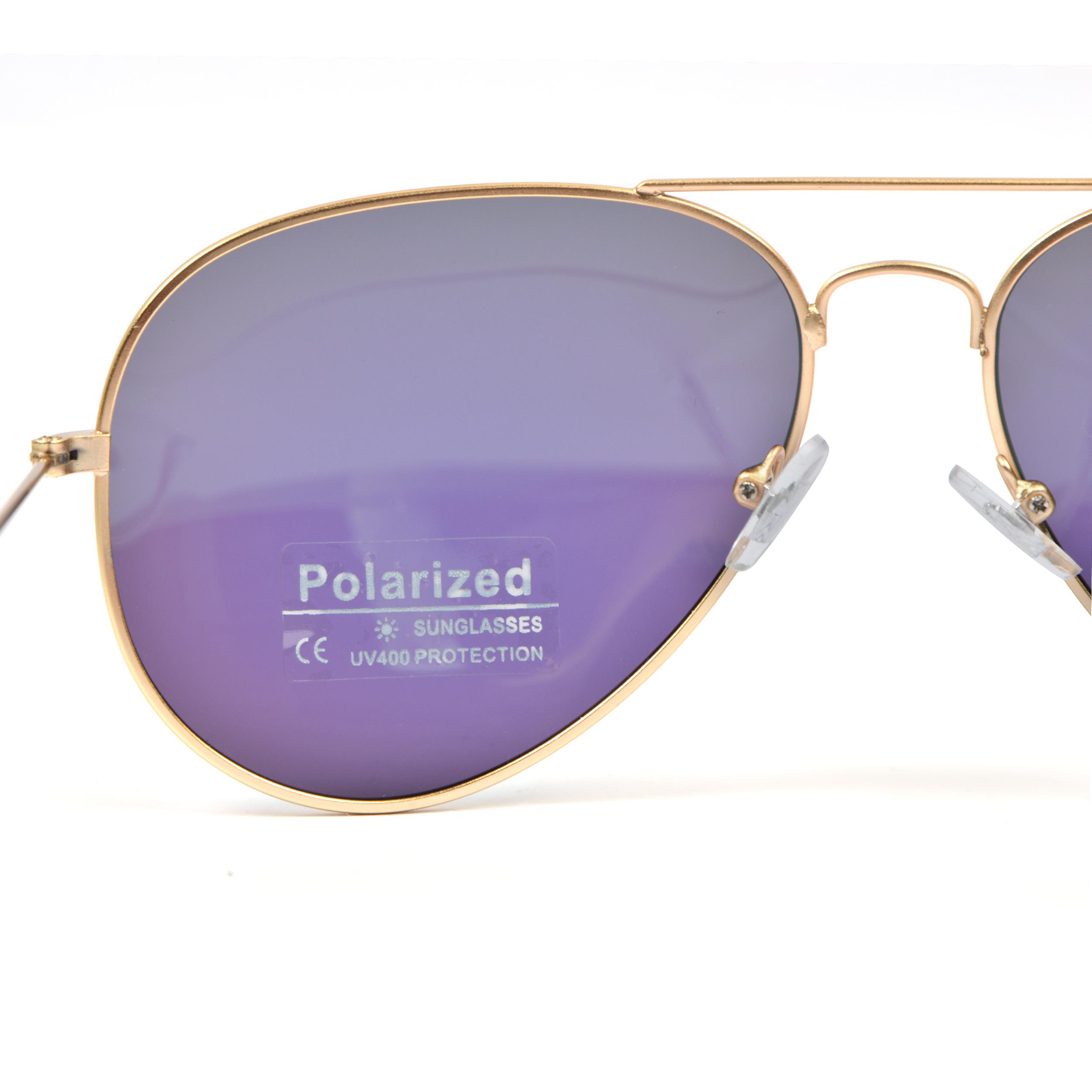 Sonnenbrille, Pilotenbrille, Aviatior - Goldfassung Green gläser