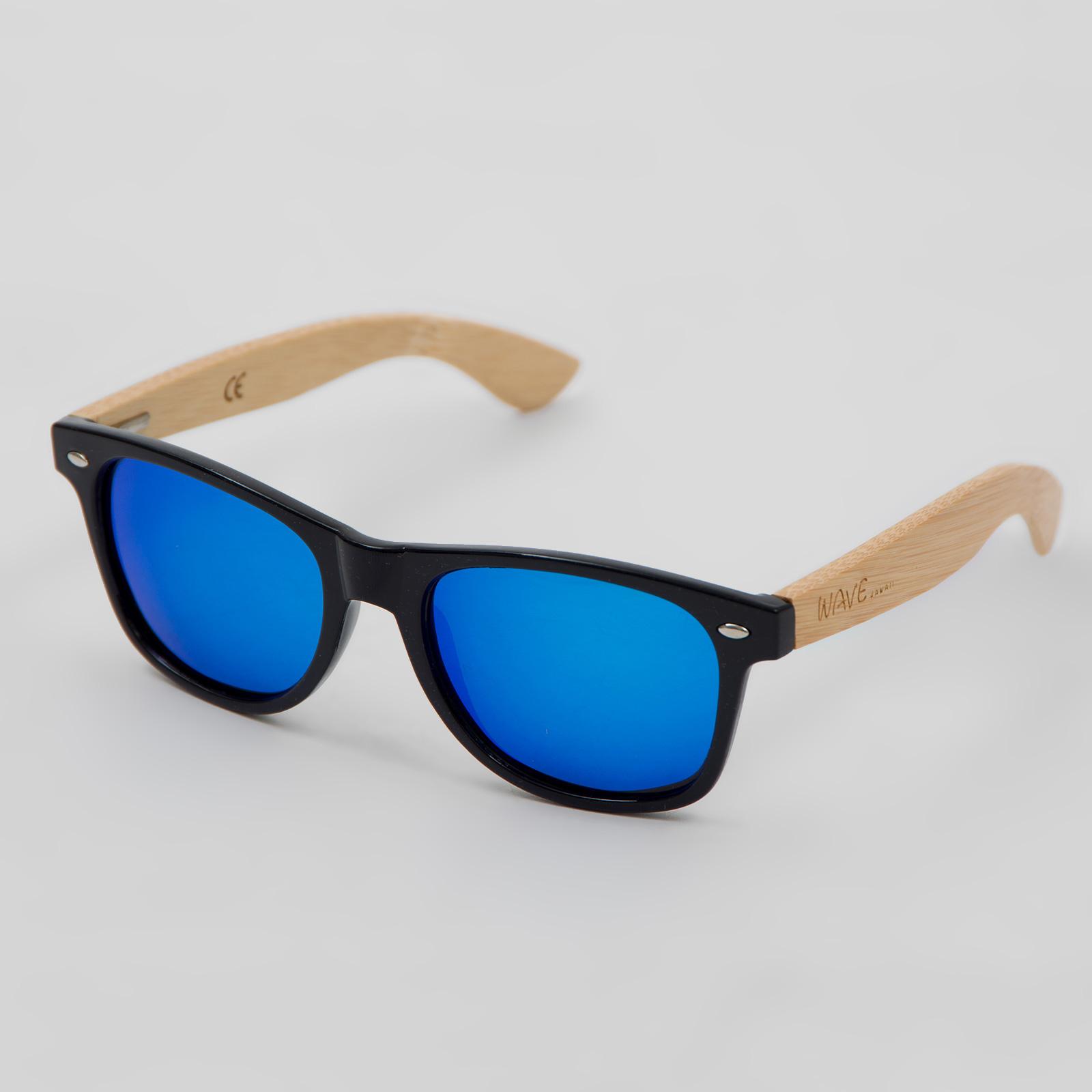 sonnenbrille nerdbrille bamboo diabolo farbe schwarz blau. Black Bedroom Furniture Sets. Home Design Ideas