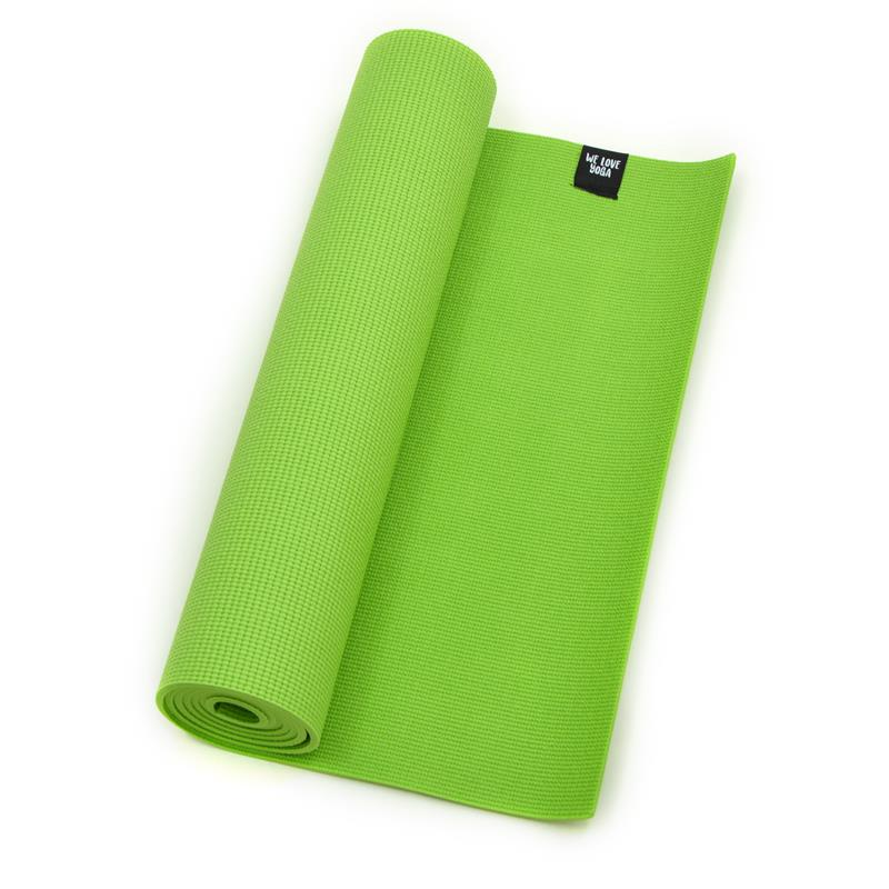 Zen Power PVC Yogamatte, für Yoga, Pilates, Gymnastik, Farbe: grün
