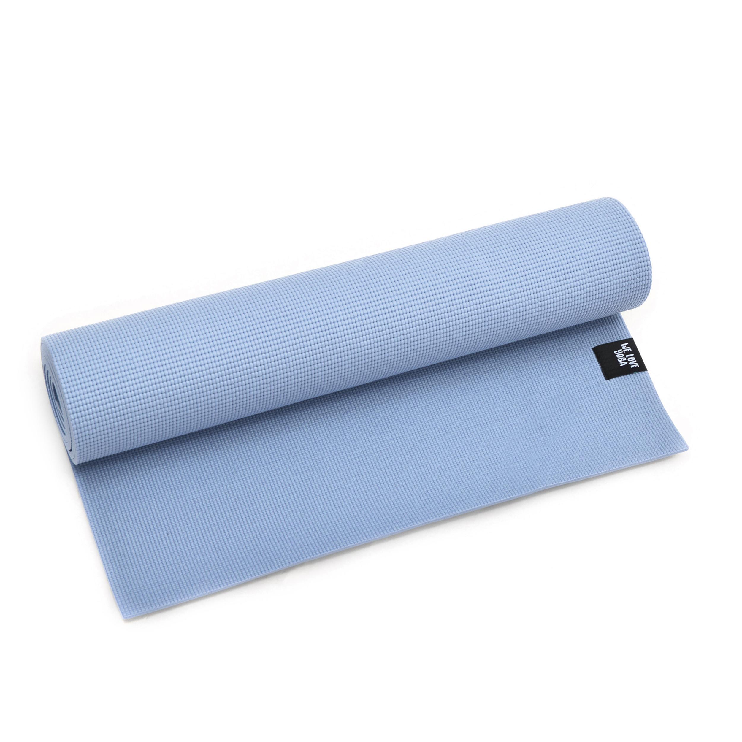 Zen Power PVC Yogamatte, für Yoga, Pilates, Gymnastik, Farbe: Hellblau/Serenity