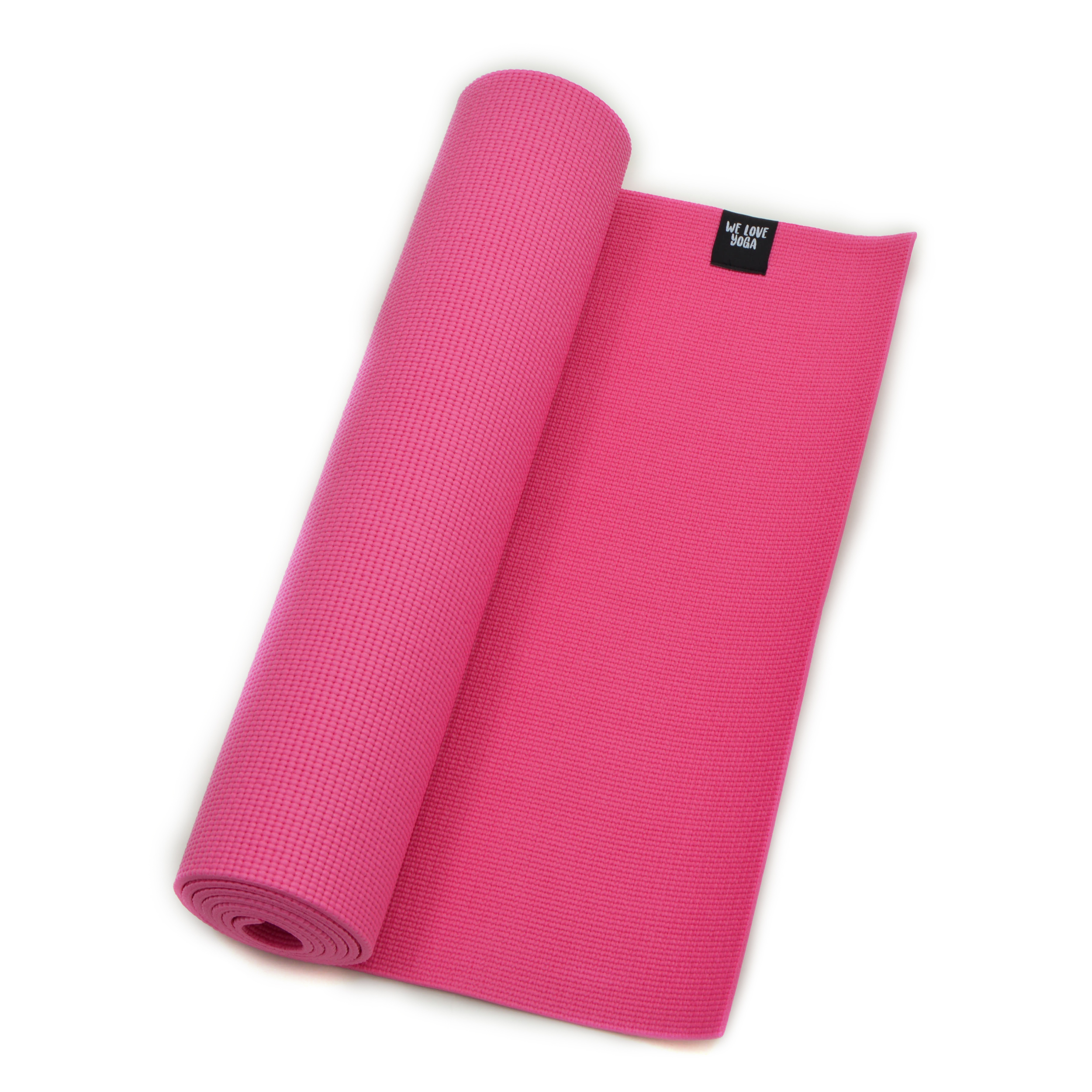 Zen Power PVC Yogamatte, für Yoga, Pilates, Gymnastik, Farbe: pink