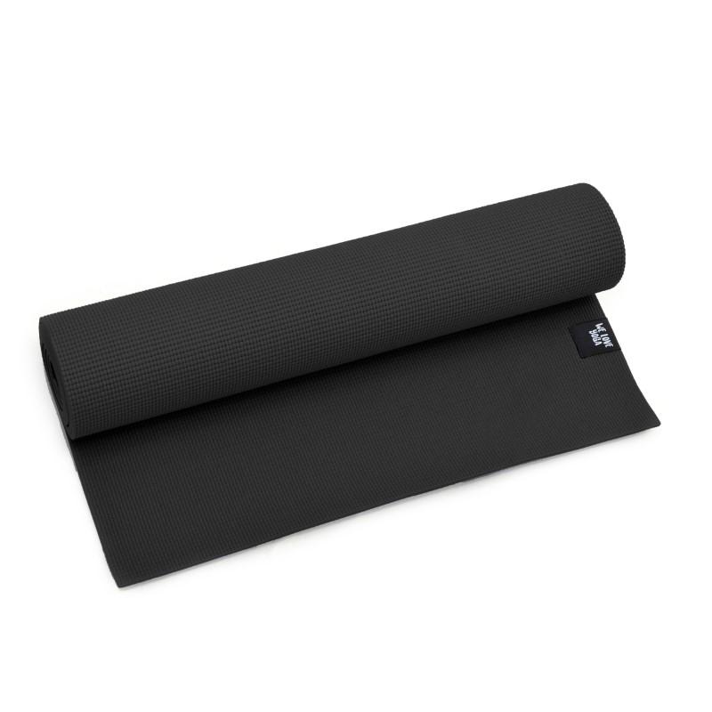 Zen Power PVC Yogamatte, für Yoga, Pilates, Gymnastik, Farbe: Schwarz